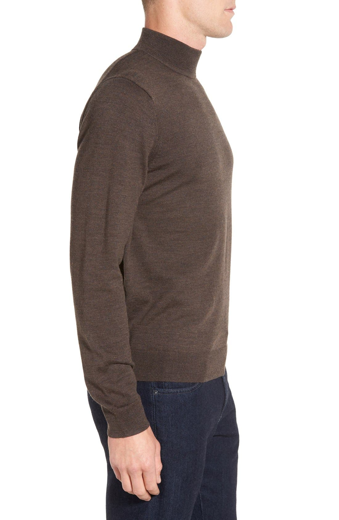 Alternate Image 3  - Nordstrom Mock Neck Merino Wool Sweater (Regular & Tall)