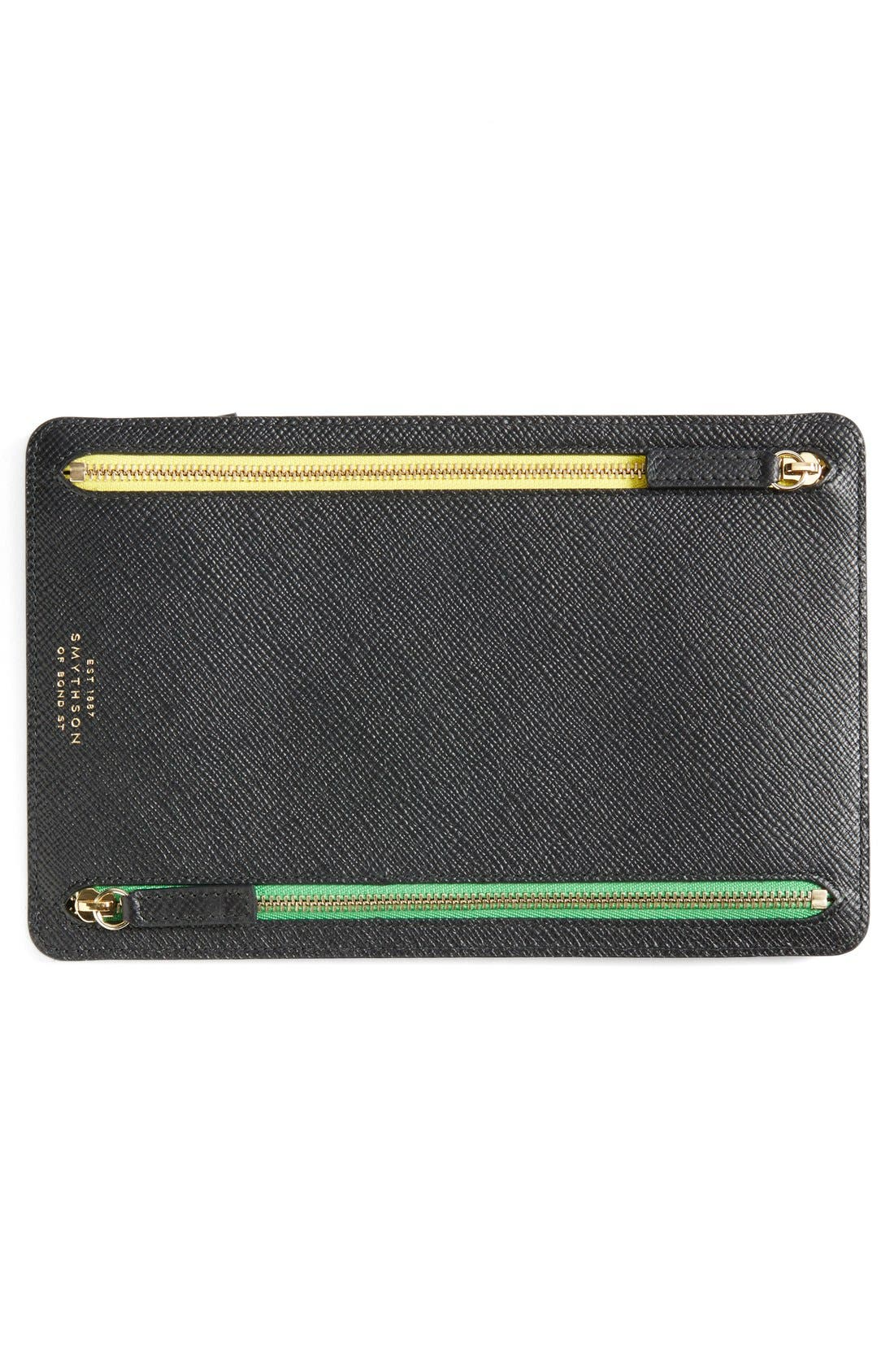'Panama' Zip Currency Case,                         Main,                         color, Black