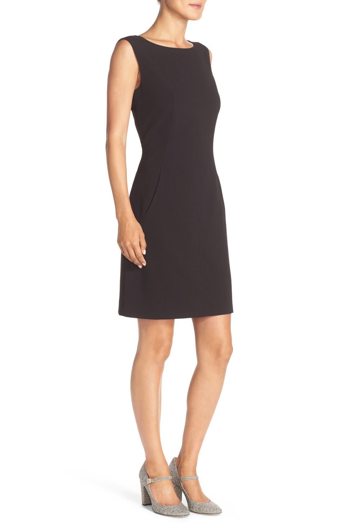 Alternate Image 3  - Tahari Seamed Woven A-Line Dress