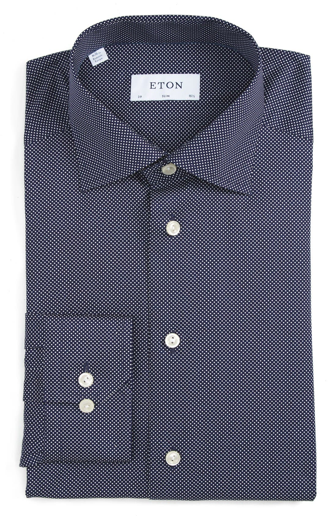 Main Image - Eton Slim Fit Dot Dress Shirt