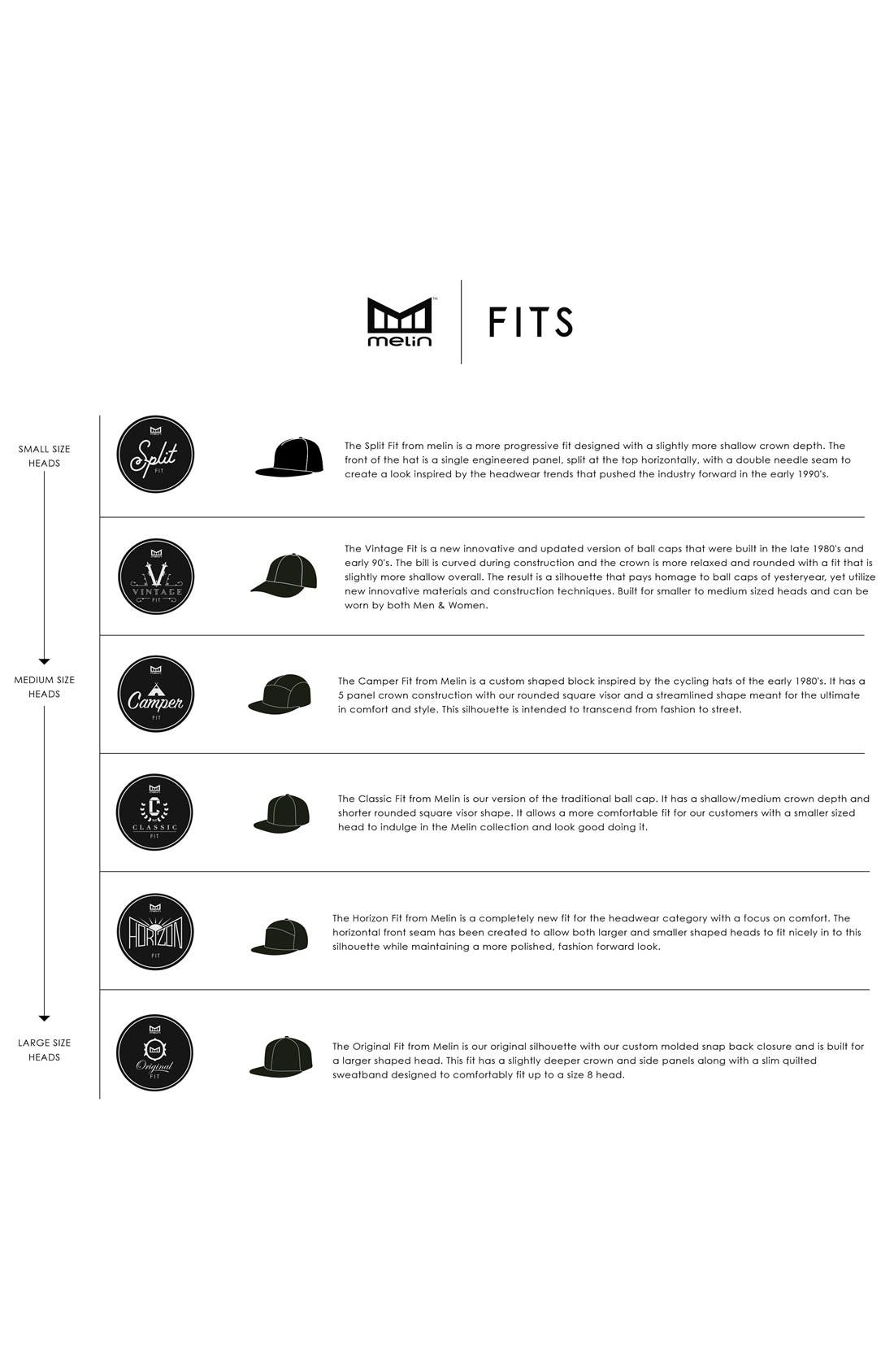 'Amphibian' Split Fit Snapback Baseball Cap,                             Alternate thumbnail 6, color,