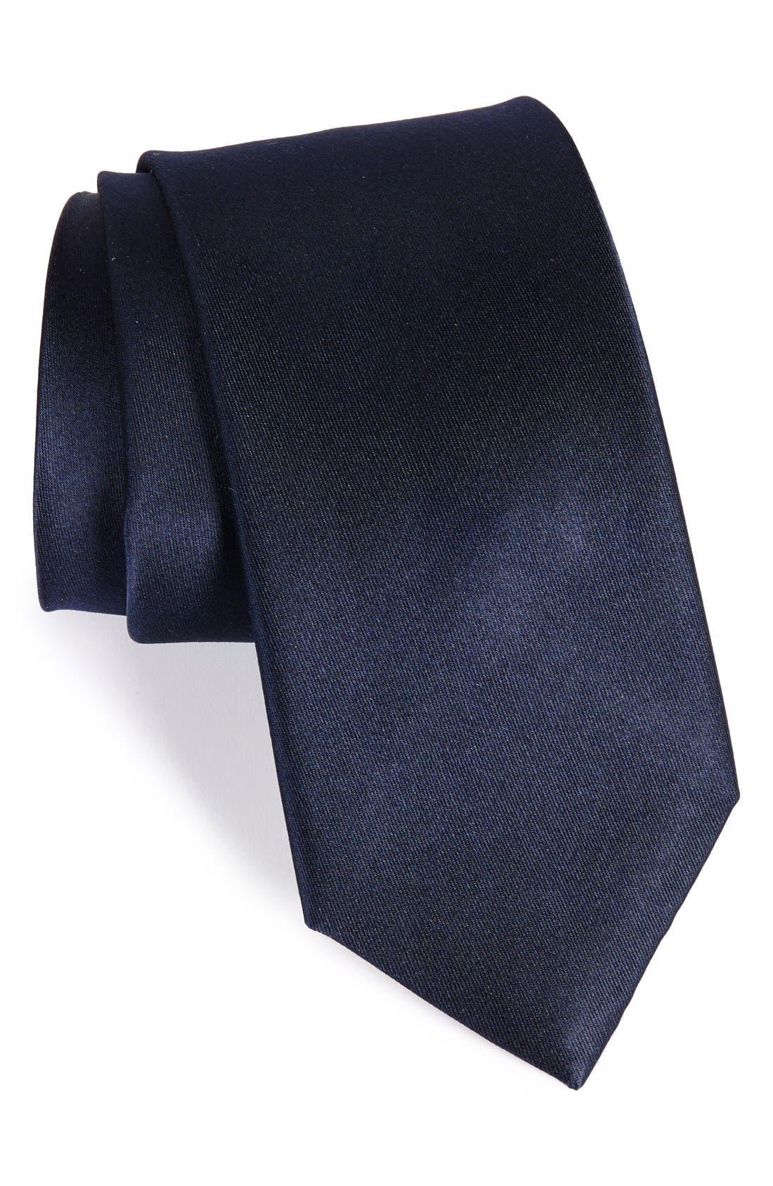 Alternate Image 1 Selected - Nordstrom Men's Shop Solid Satin Silk Tie