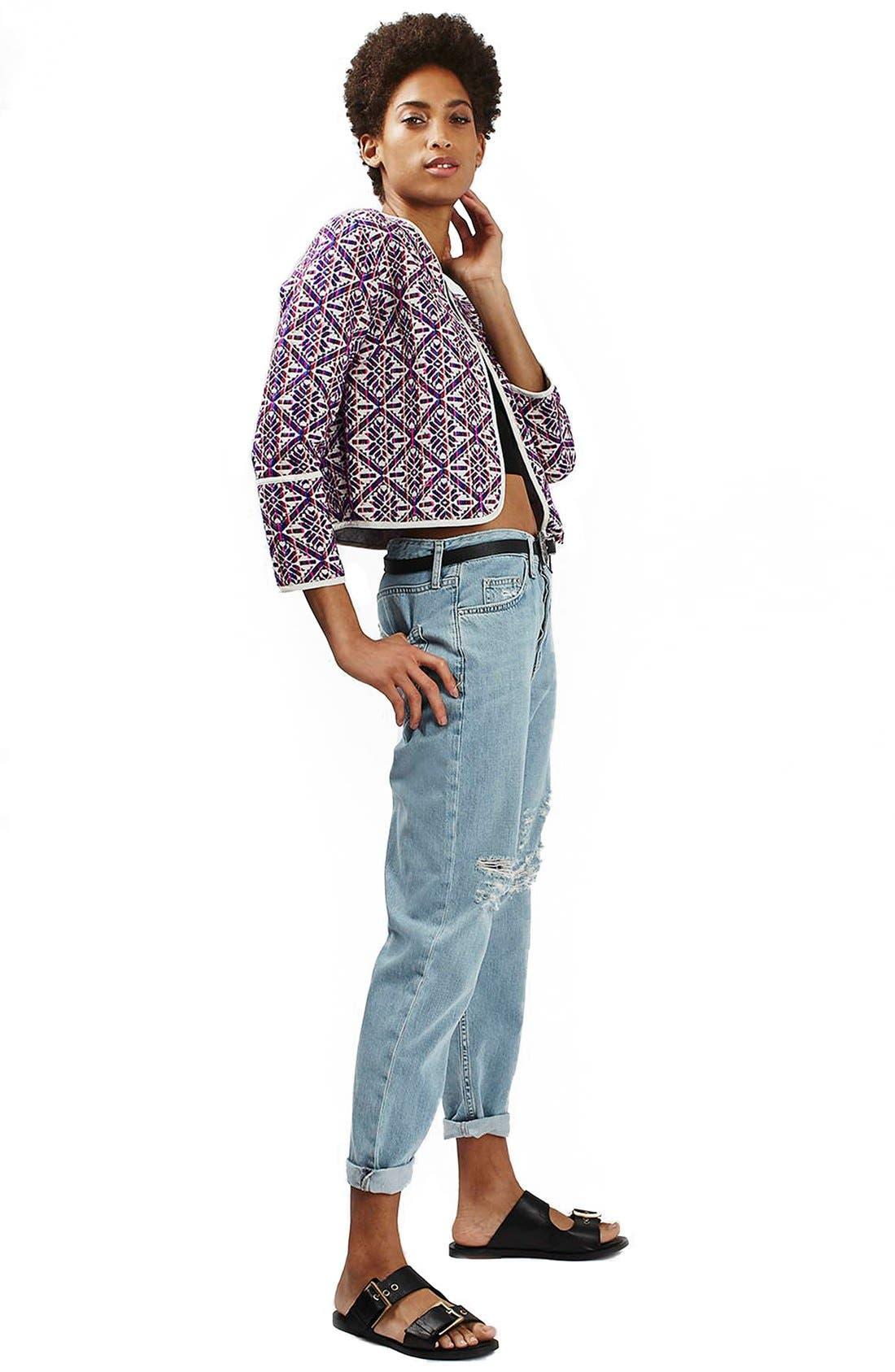 Alternate Image 2  - Topshop 'Hayden' Bleach Ripped Boyfriend Jeans