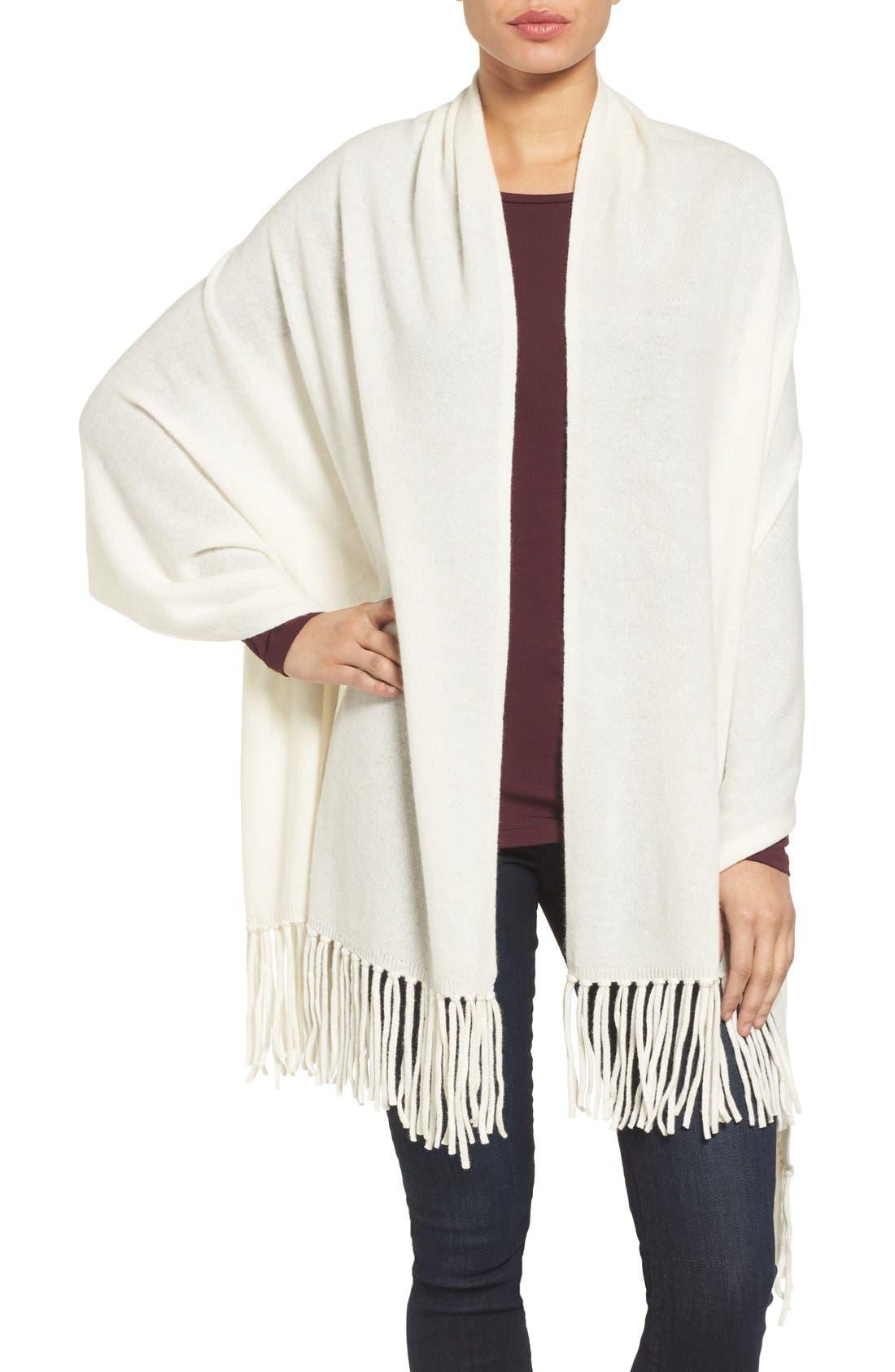 Nordstrom Collection Fringe Cashmere Wrap