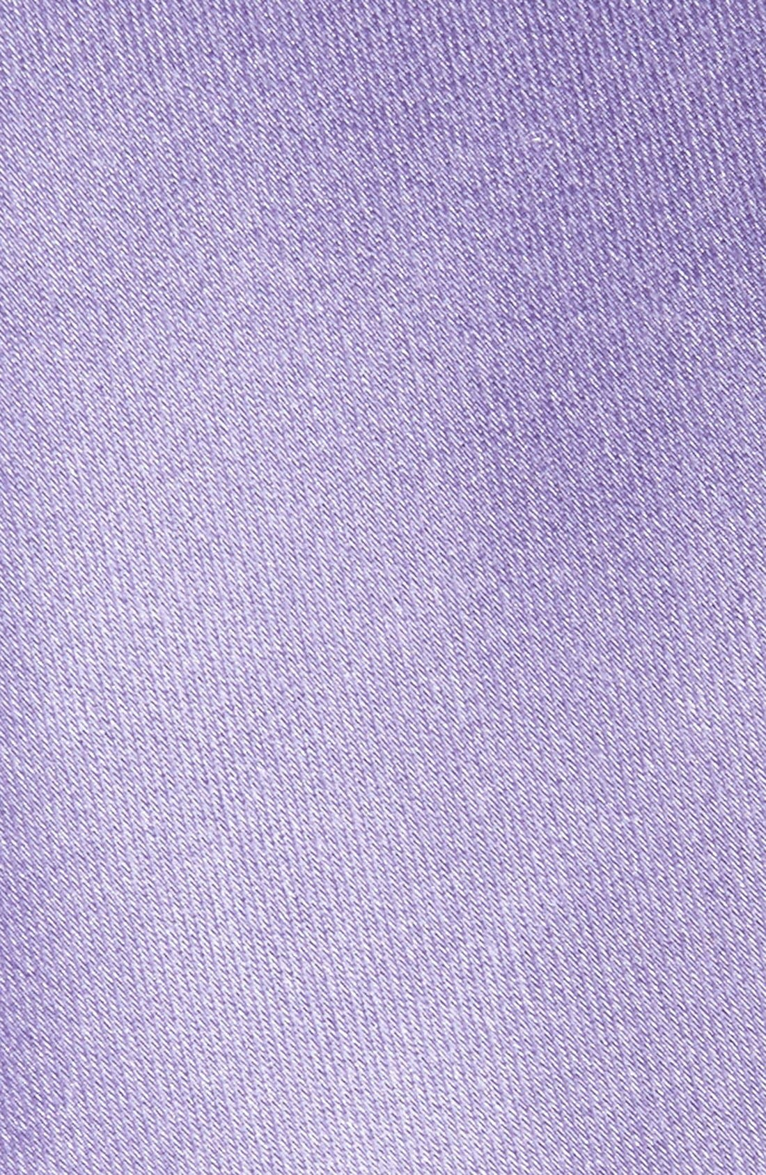Solid Satin Silk Tie,                             Alternate thumbnail 2, color,                             Ice Lilac