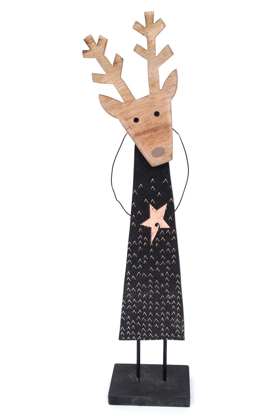 'Deer with Star' Figurine,                             Main thumbnail 1, color,                             Black/ Natural
