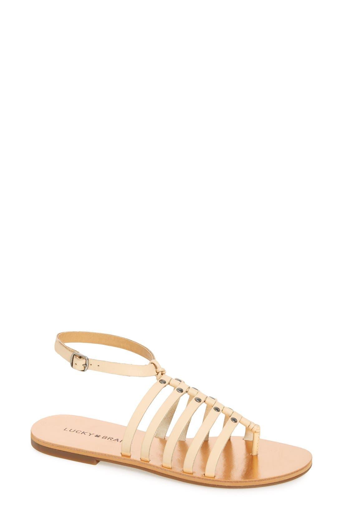 Alternate Image 1 Selected - Lucky Brand 'Cymaa' Gladiator Sandal (Women)