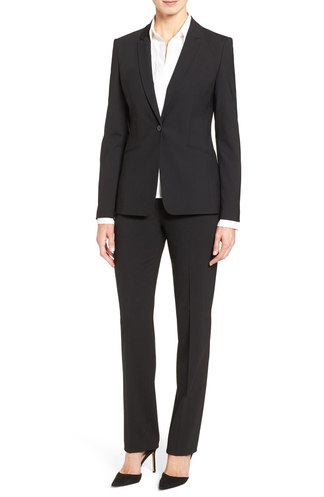 BOSS Suit Jacket, Straight Leg Trousers & Shirt