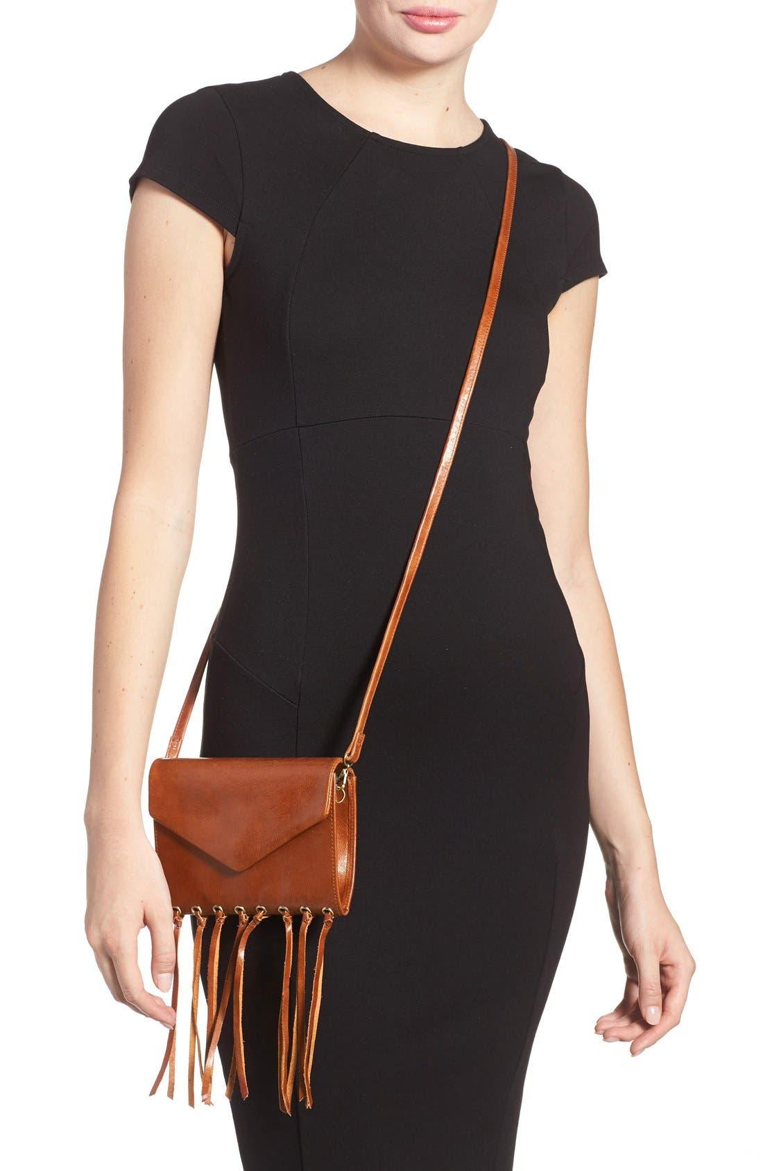 Alternate Image 3  - Hobo 'Maisy' Glazed Leather Fringe Crossbody Bag
