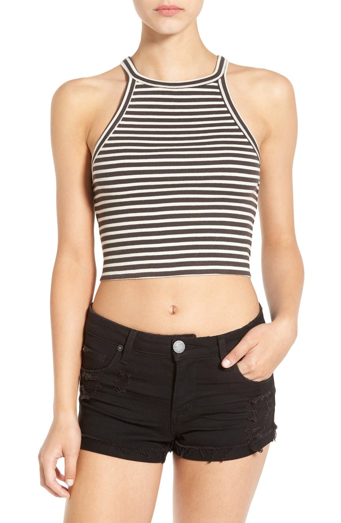 Main Image - Billabong 'For Real' Stripe Crop Top