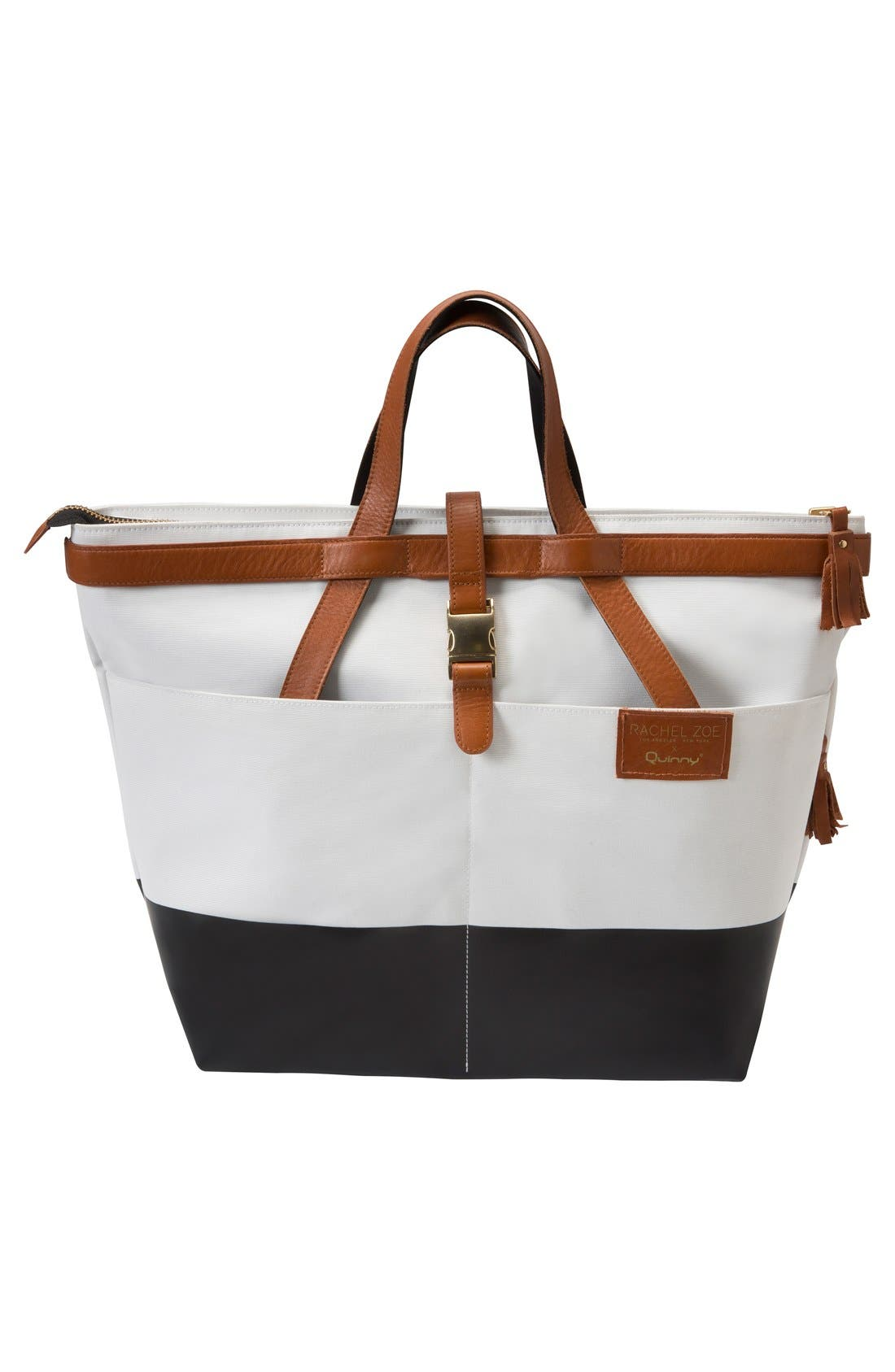 Alternate Image 5  - Quinny x Rachel Zoe 'Jet Set' Canvas Diaper Bag