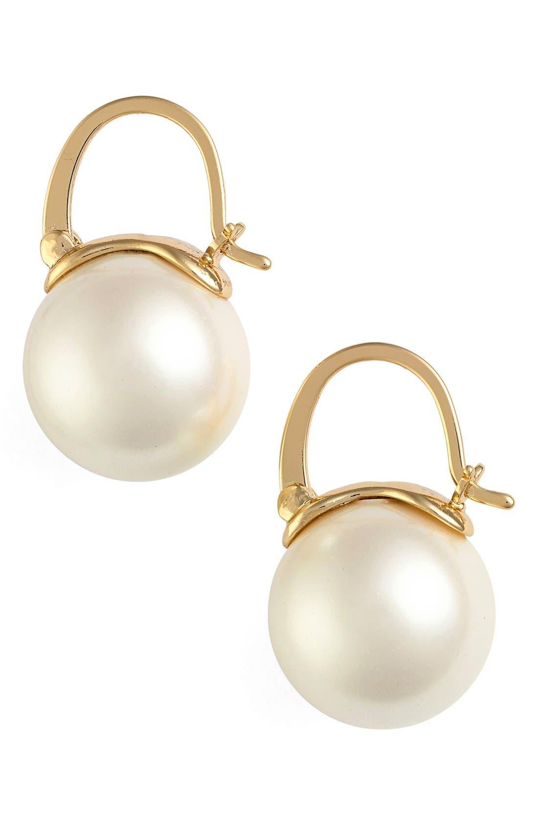 kate spade new york faux pearl drop earrings nordstrom