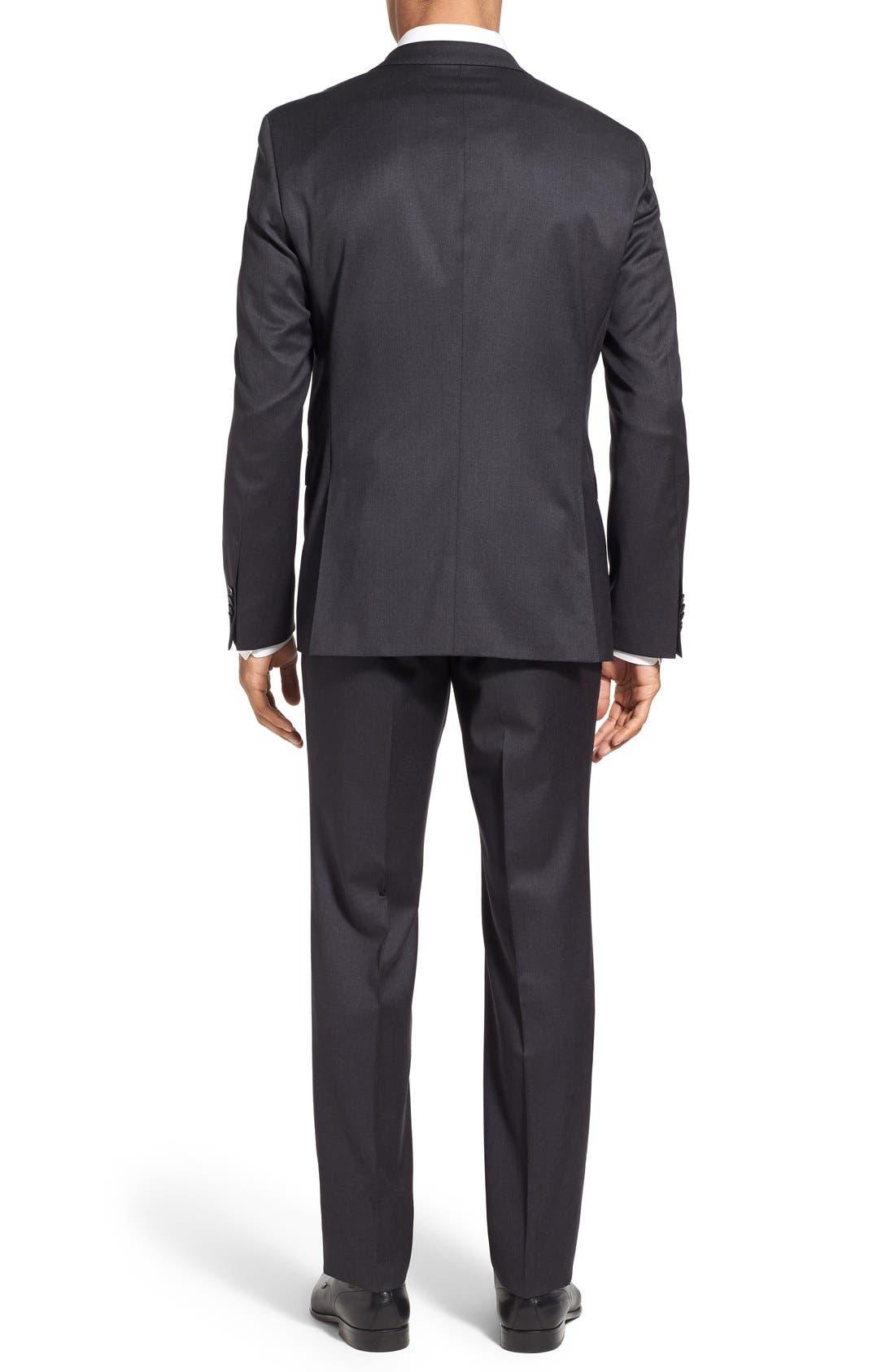 'Ryan/Win' Extra Trim Fit Solid Wool Suit,                             Alternate thumbnail 2, color,                             Dark Grey