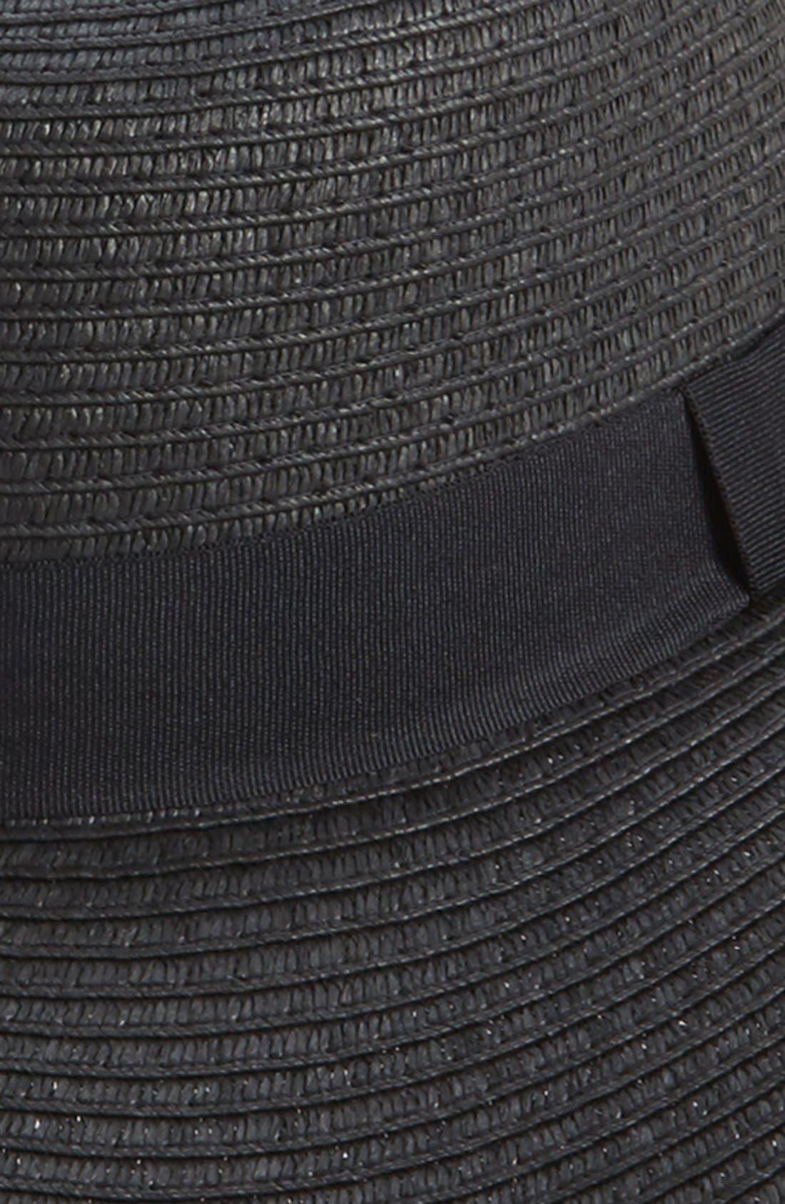 Alternate Image 2  - Amici Accessories Oversized Floppy Straw Hat