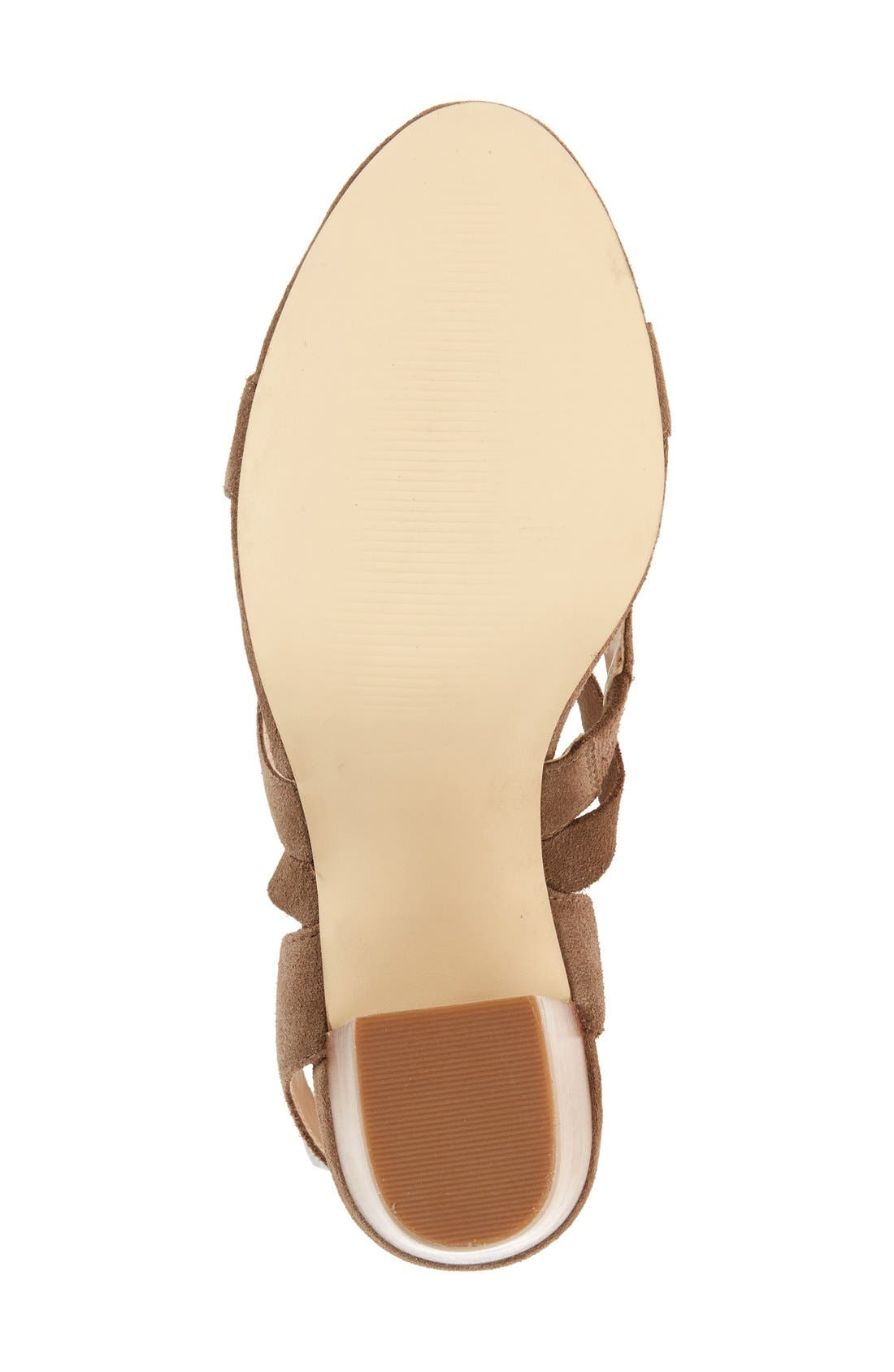 'Lyla' Lace-Up Sandal,                             Alternate thumbnail 4, color,                             Taupe