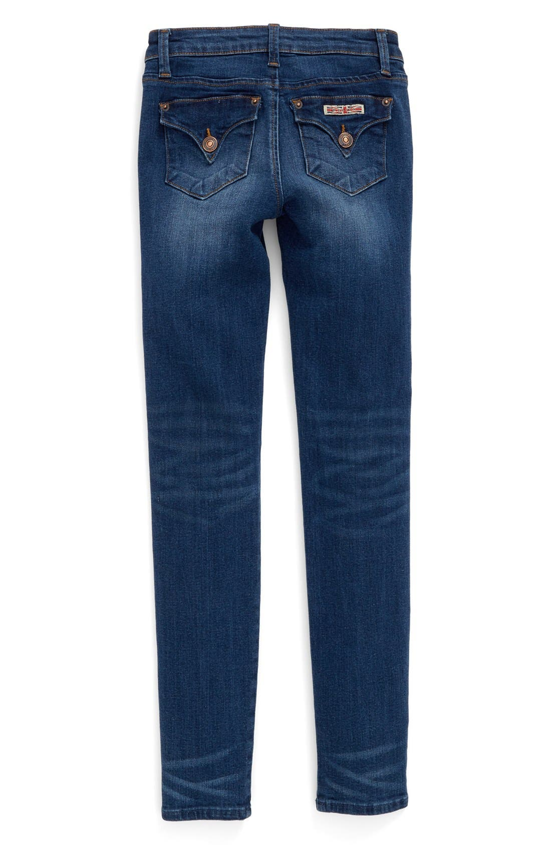 'Collin' Skinny Jeans,                             Alternate thumbnail 4, color,                             Dark Indigo Sand