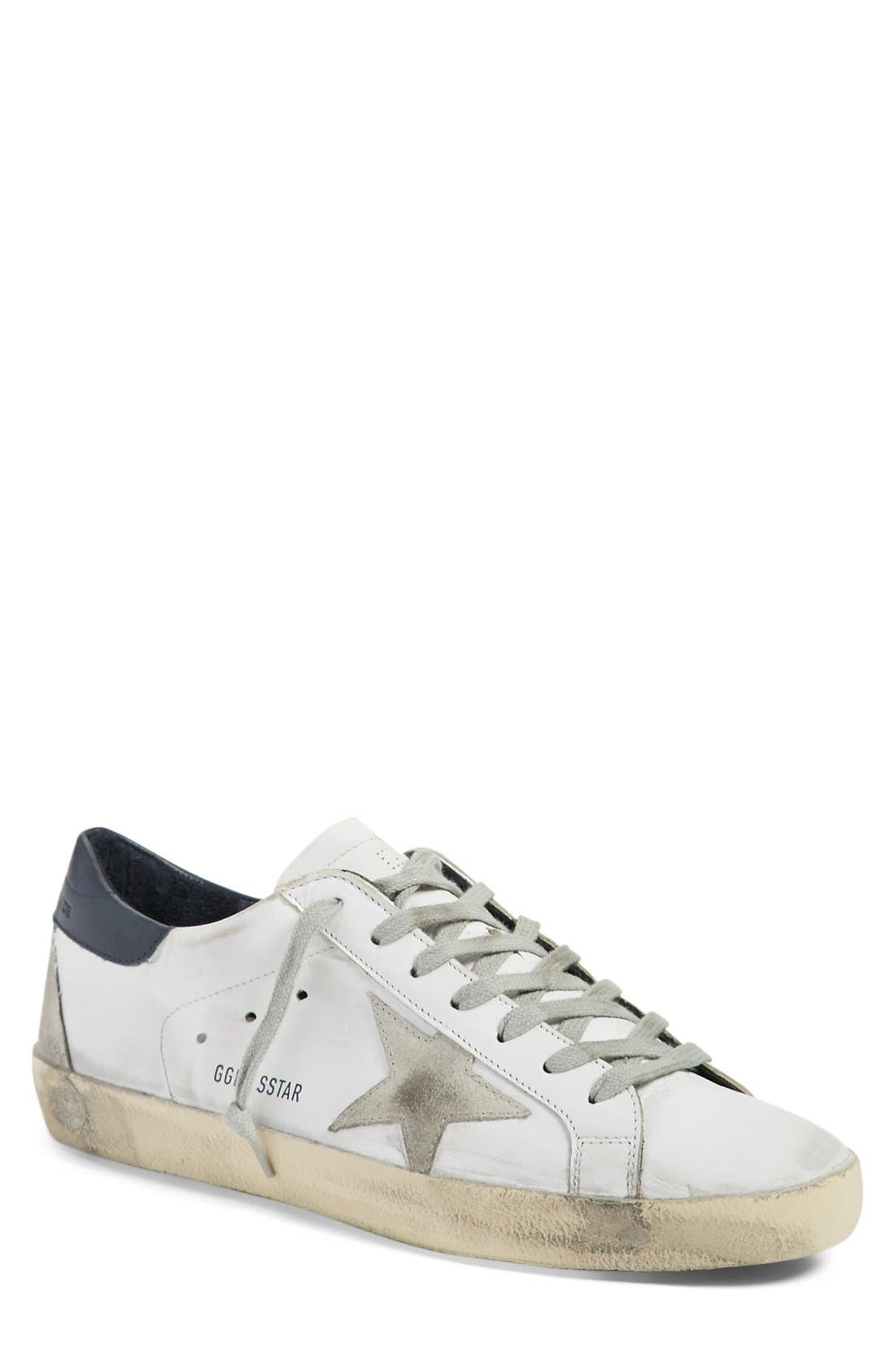 'Superstar' Sneaker,                             Main thumbnail 1, color,                             White Leather