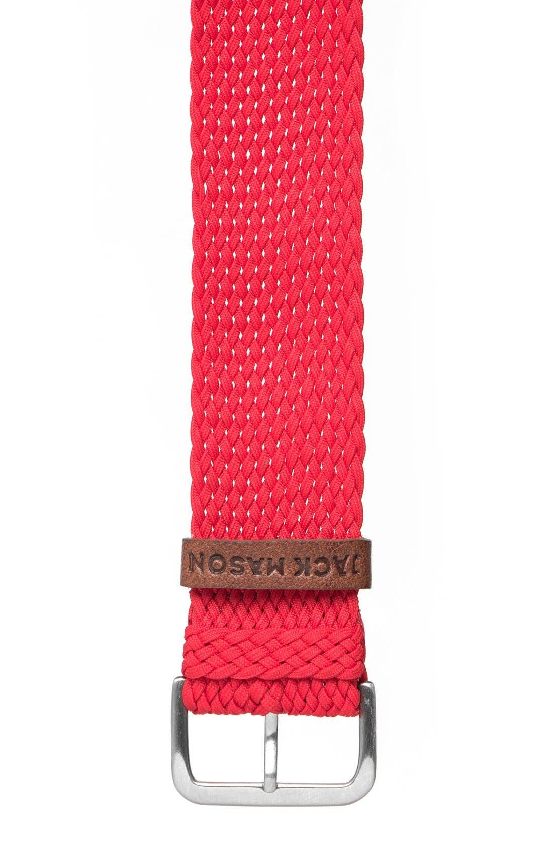 Main Image - Jack Mason Nylon Strap with Leather Keeper, 22mm