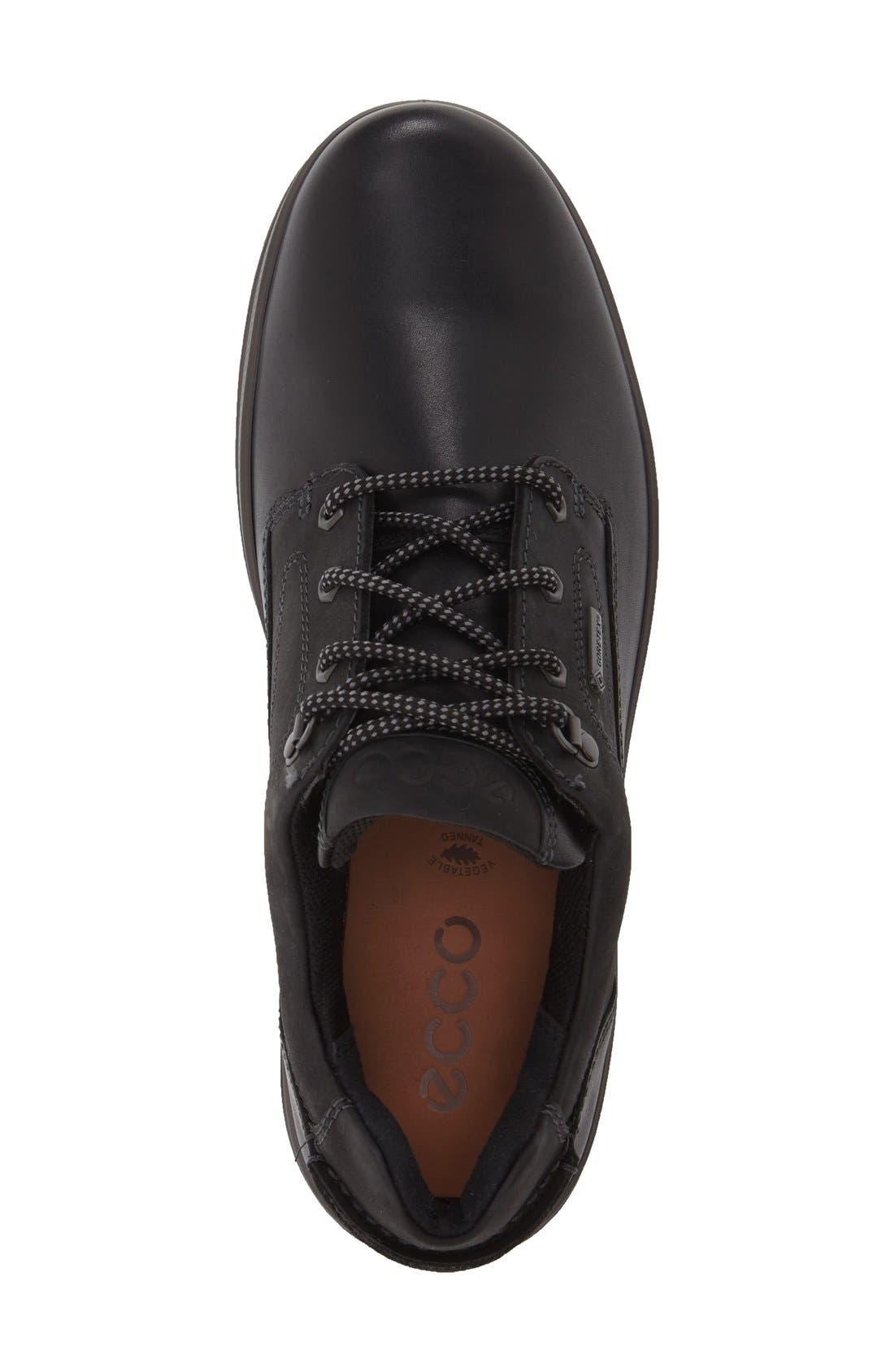 'Rugged Track GTX' Oxford,                             Alternate thumbnail 3, color,                             Black/ Black Leather