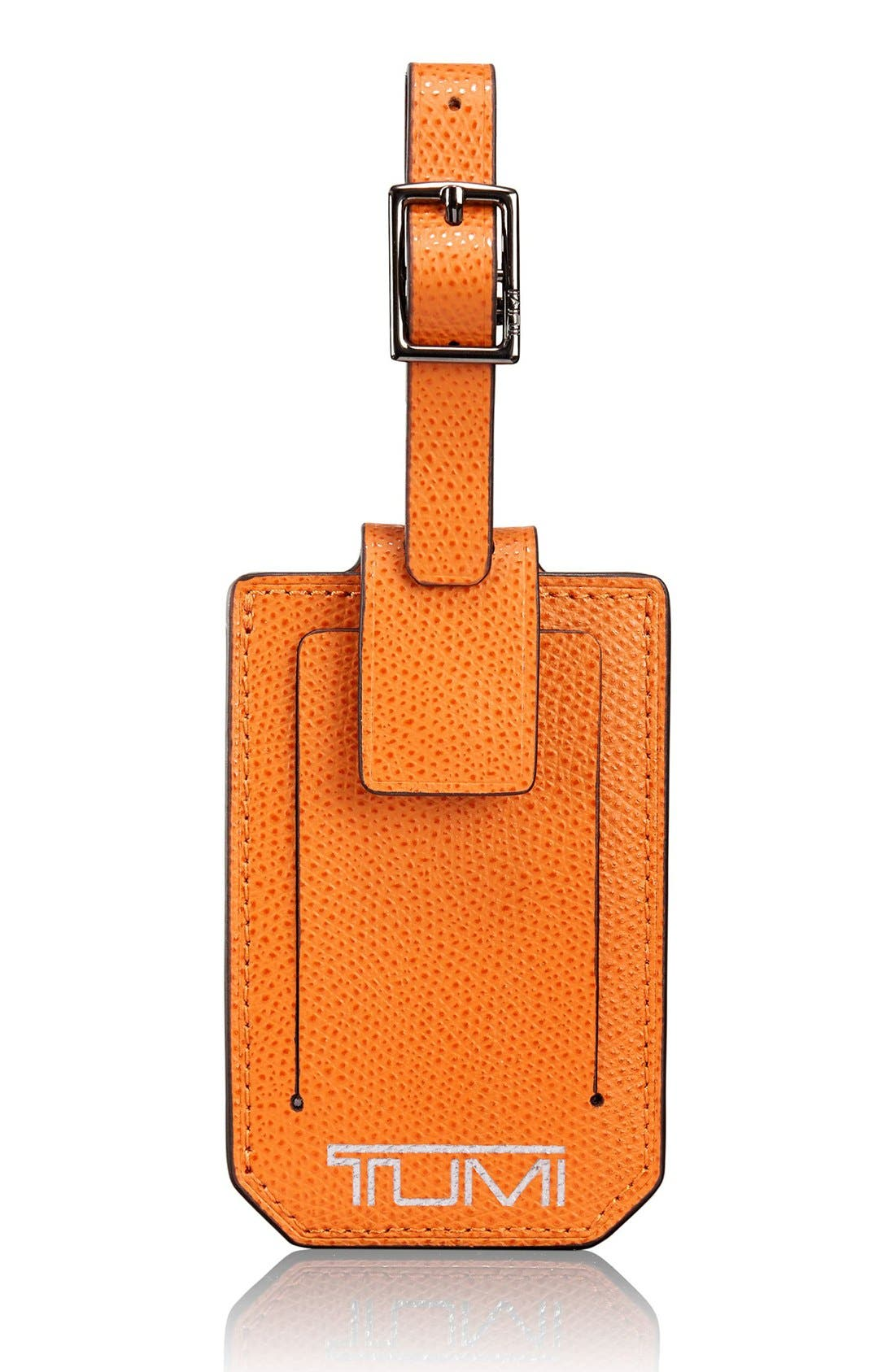 Alternate Image 1 Selected - Tumi 'Camden' Leather Luggage Tag
