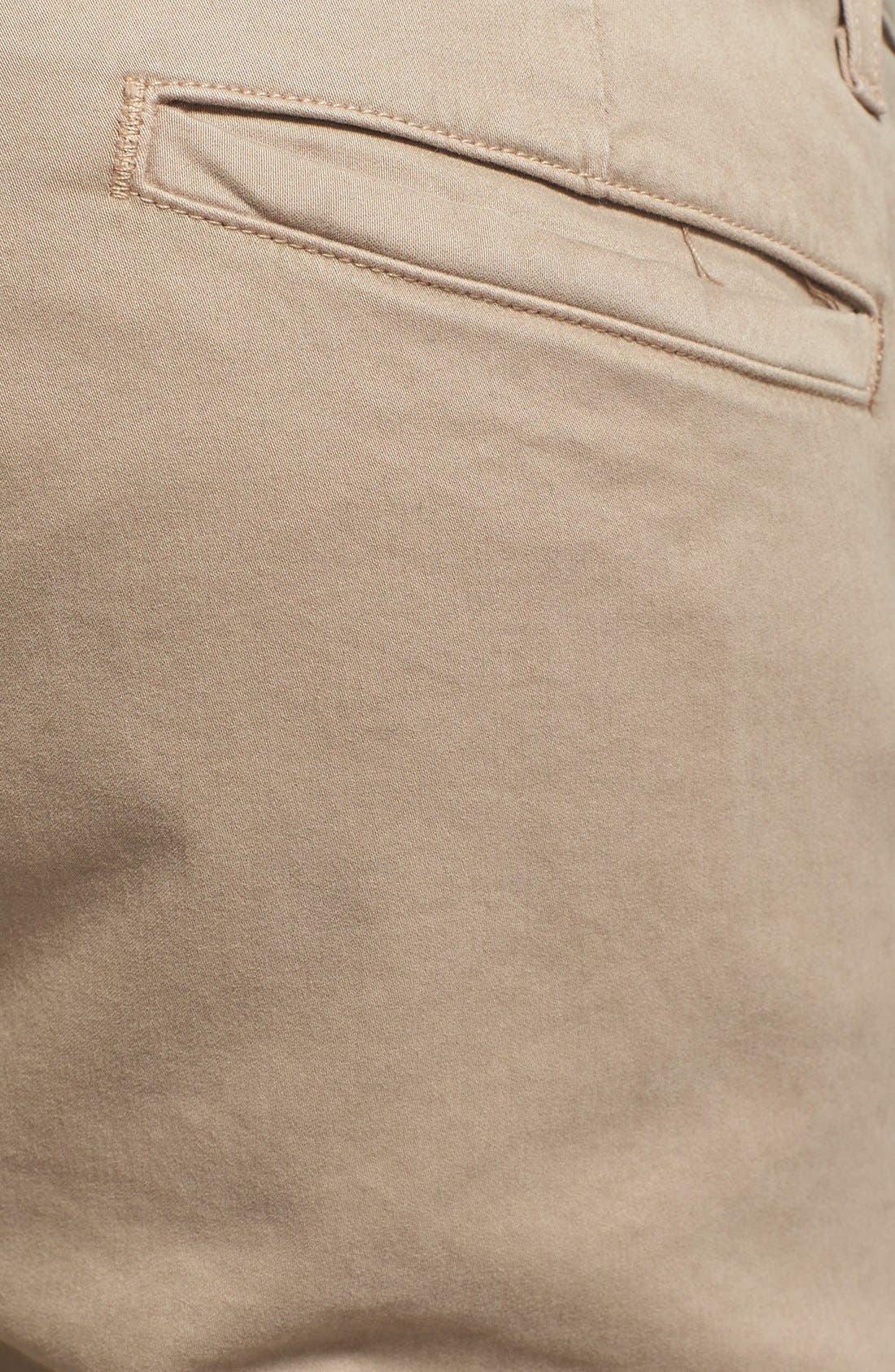 'The Lux' Tailored Straight Leg Chinos,                             Alternate thumbnail 5, color,                             Wheat