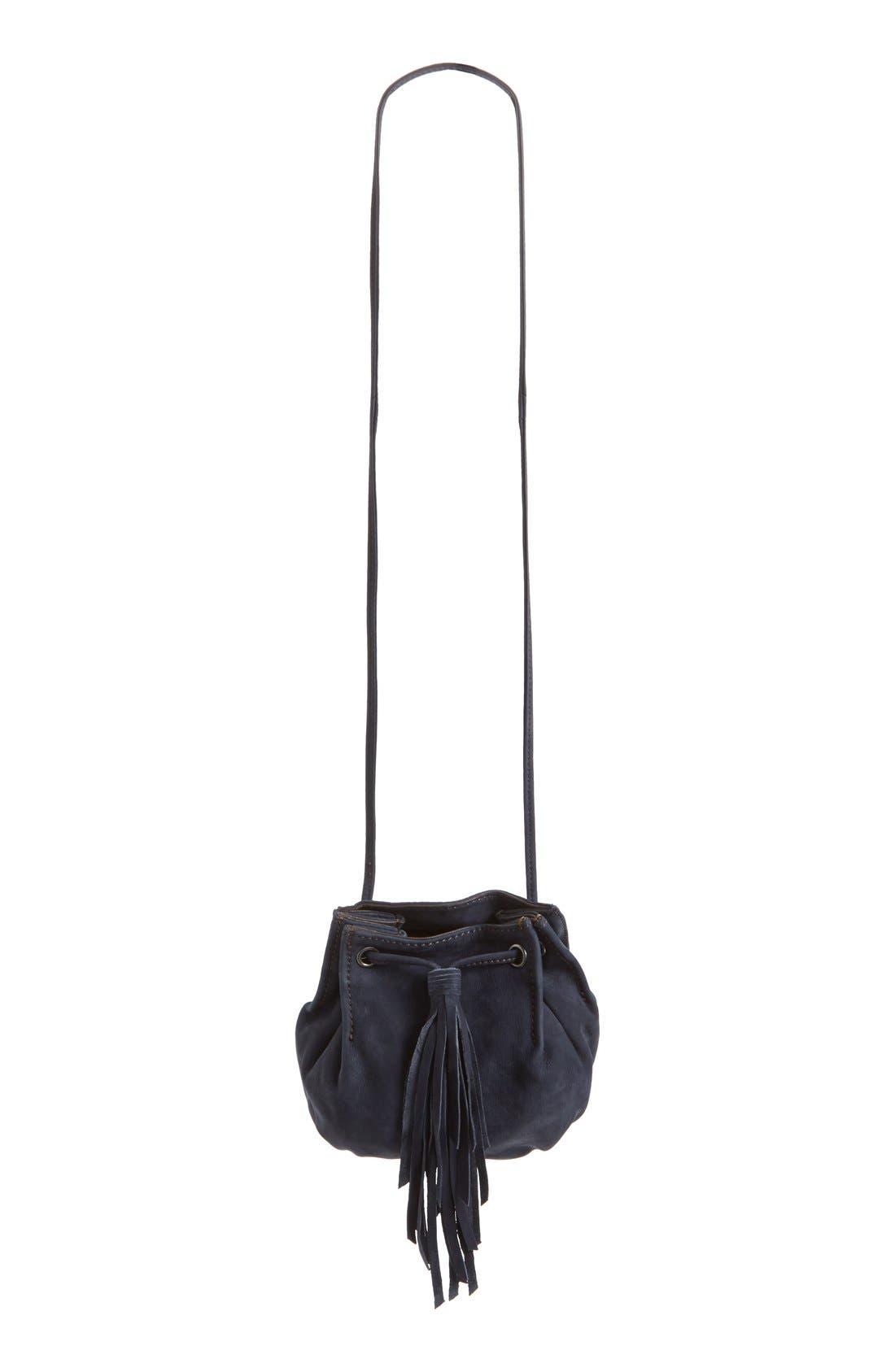 Main Image - Treasure&Bond Tasseled Leather Bucket Bag