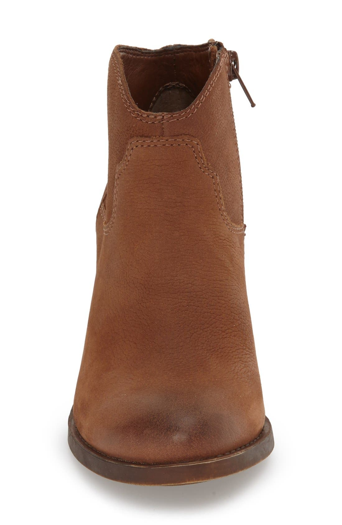 'Eller' Bootie,                             Alternate thumbnail 3, color,                             Toffee Leather