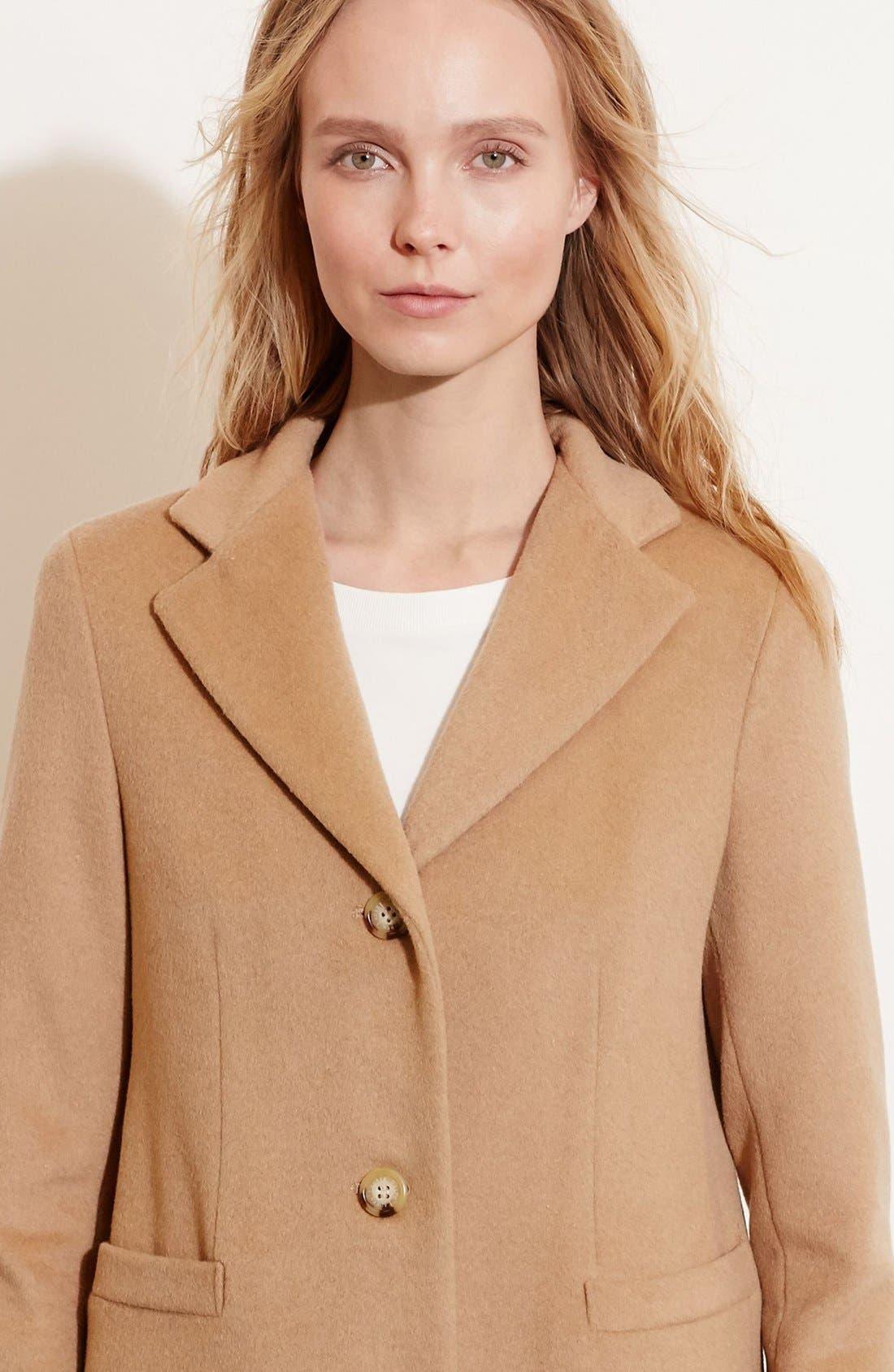 Alternate Image 3  - Lauren Ralph Lauren Wool Blend Reefer Coat (Regular & Petite)