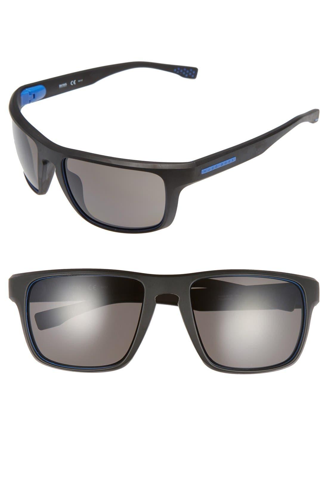 '0800/S' 58mm Polarized Sunglasses,                         Main,                         color, Soft Black