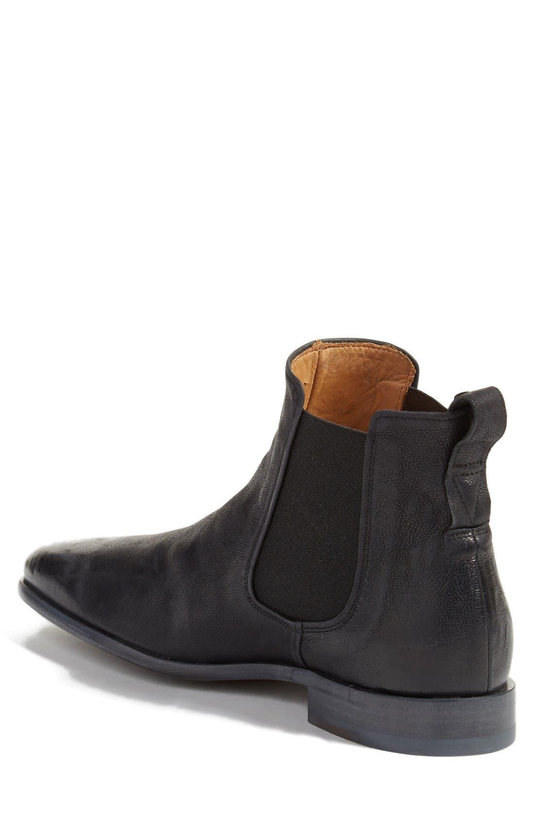 Arthur Chelsea Boot,                             Alternate thumbnail 2, color,                             Black Leather