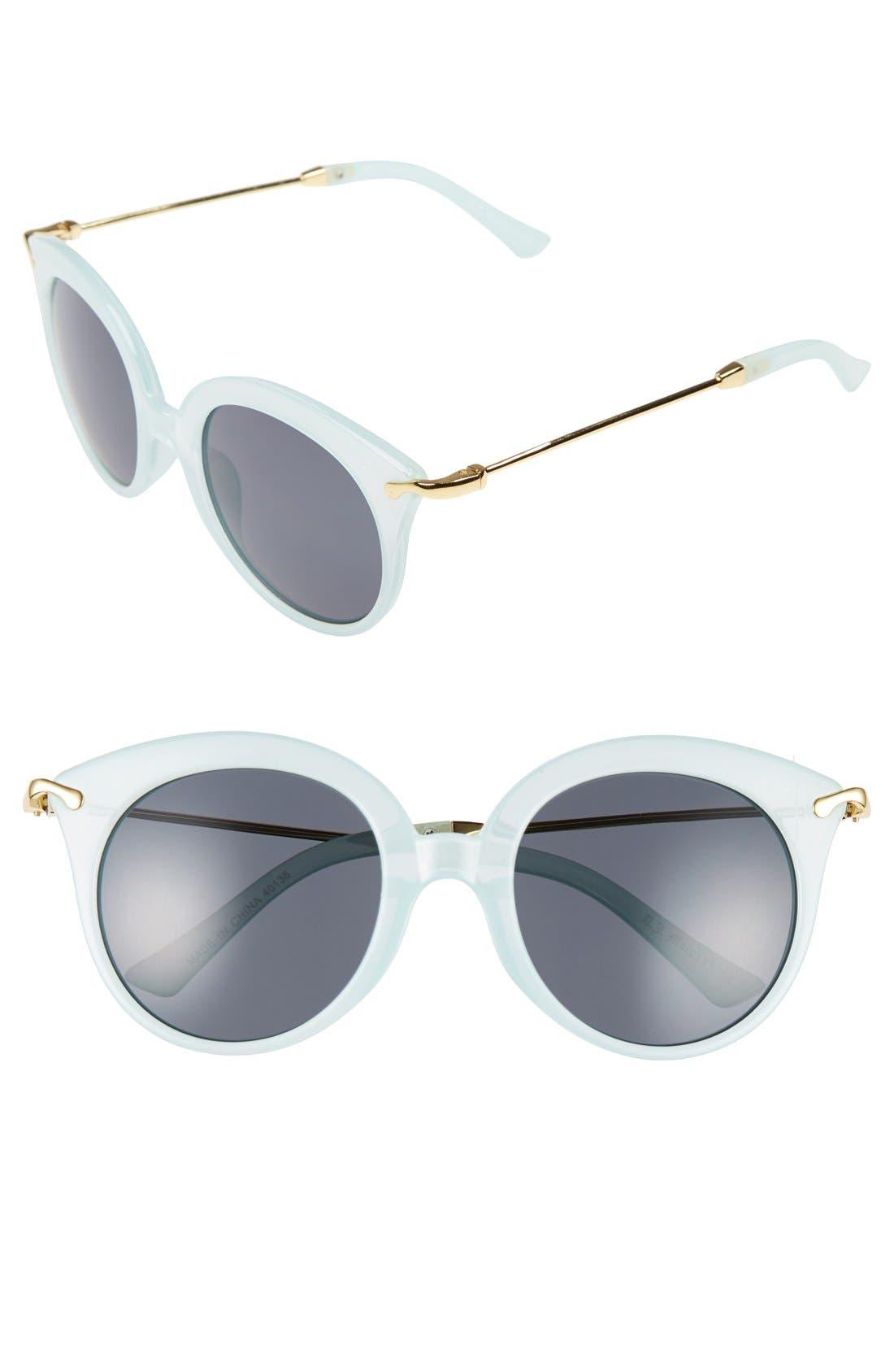 Main Image - A.J. Morgan 'Oh Baby' 50mm Cat Eye Sunglasses