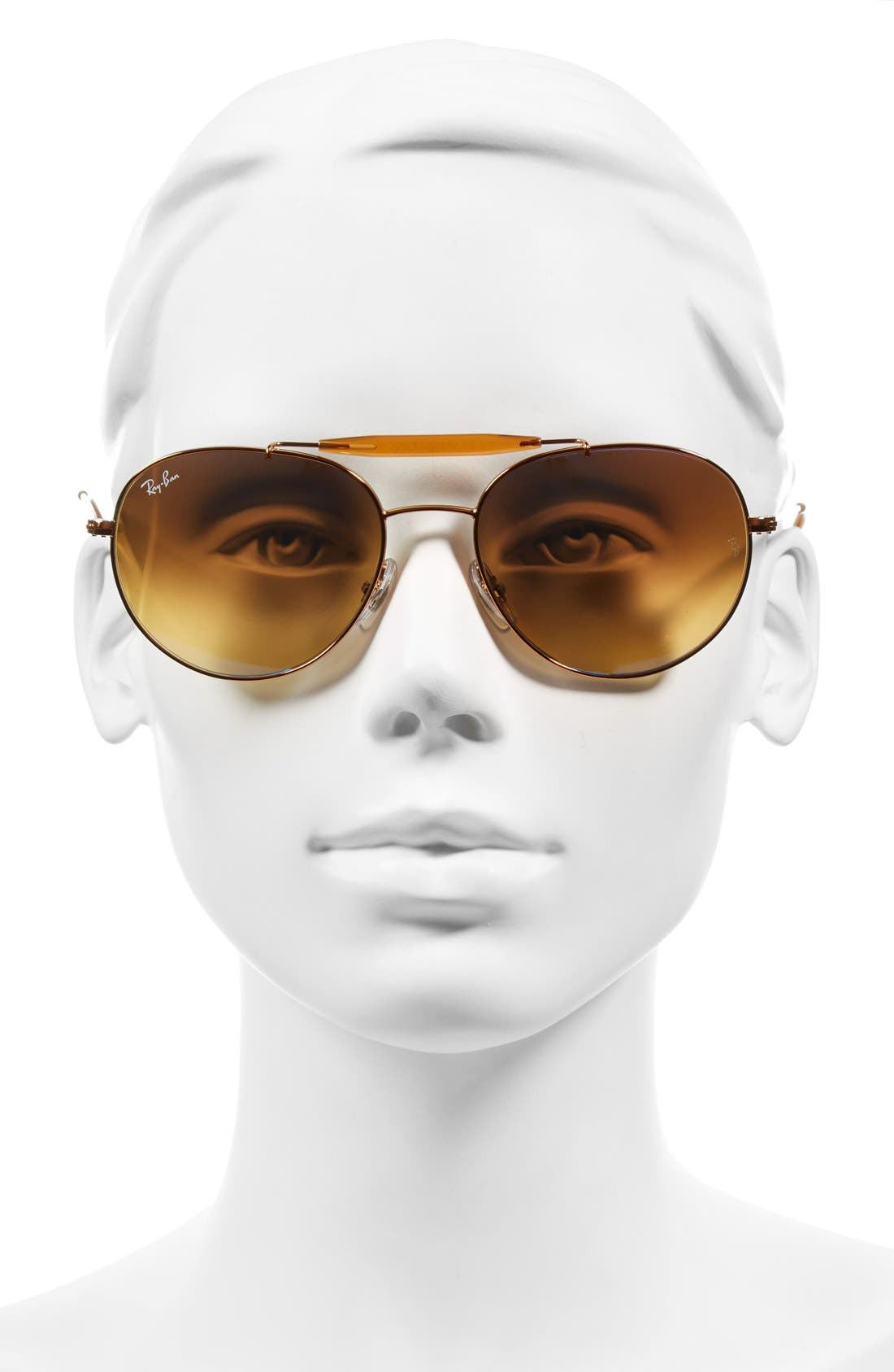 Highstreet 56mm Sunglasses,                             Alternate thumbnail 2, color,                             Medium Blue Flash