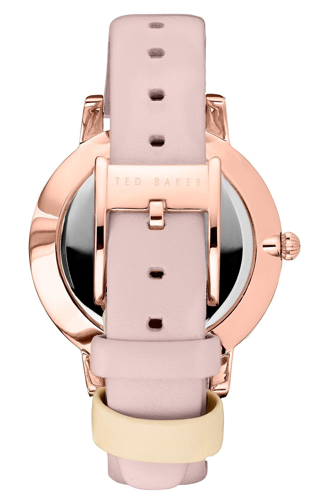 'Dress Sport' Multifunction Leather Strap Watch, 40mm,                             Alternate thumbnail 2, color,                             Pink/ Rose Gold