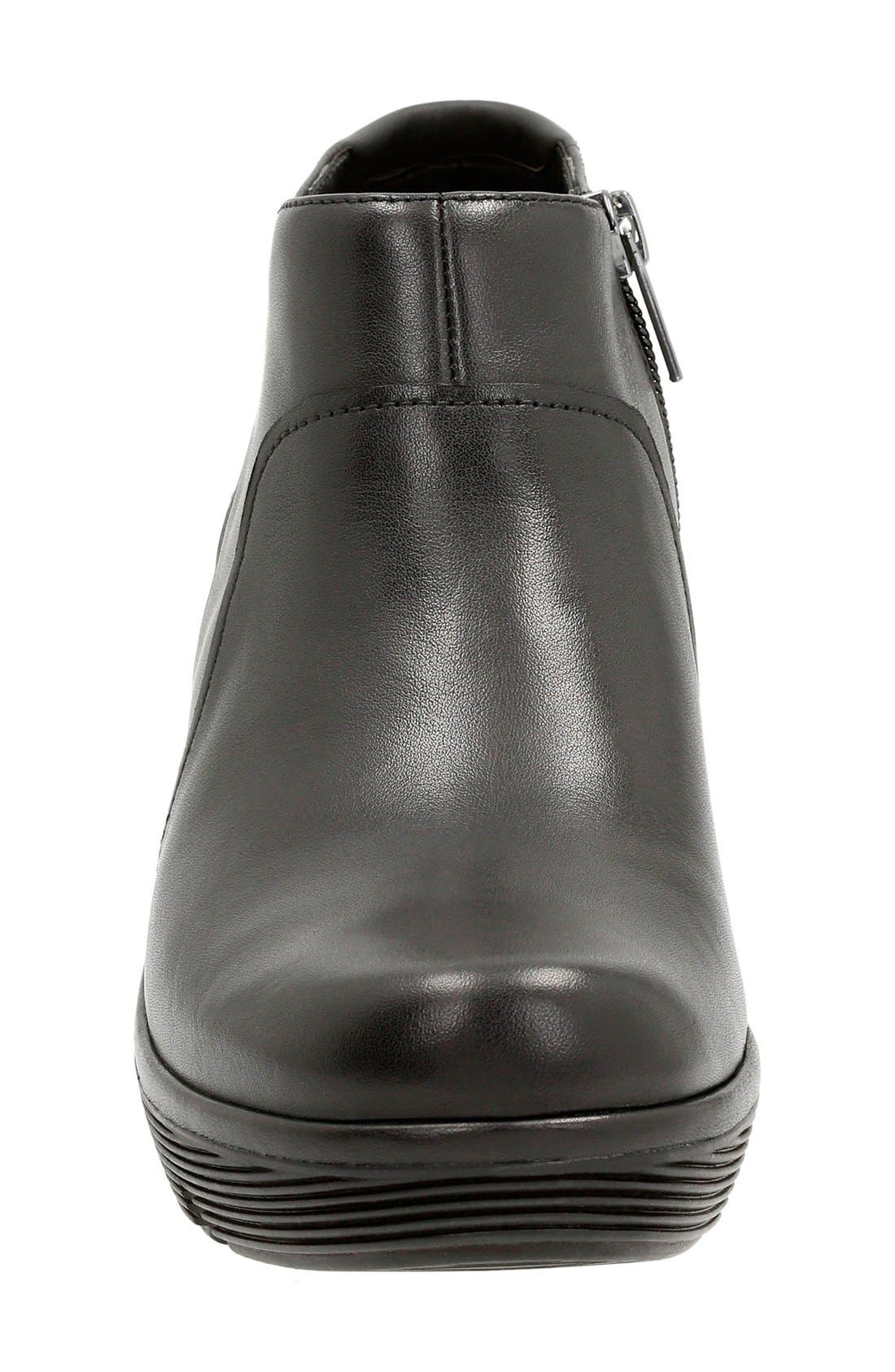 'Clarene Sun' Wedge Boot,                             Alternate thumbnail 3, color,                             Black Leather