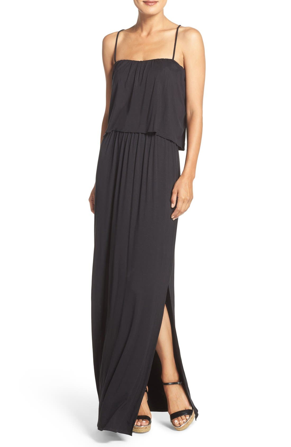 Jersey Popover Dress,                             Main thumbnail 1, color,                             Black