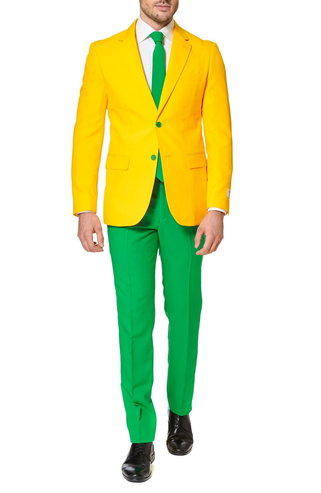 Alternate Image 4  - OppoSuits 'Green & Gold' Trim Fit Suit with Tie