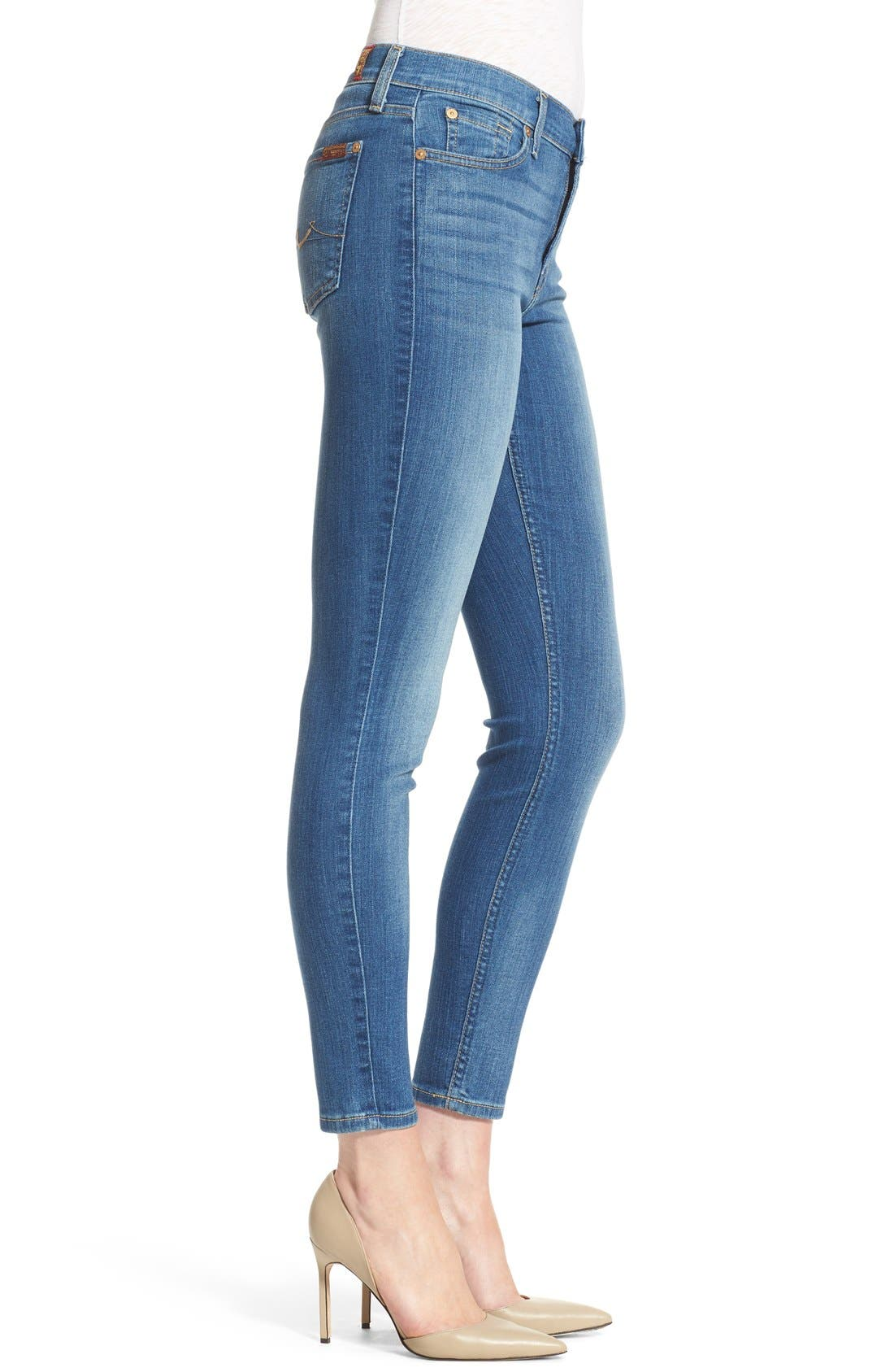 Alternate Image 3  - 7 For All Mankind® Skinny Ankle Jeans (Supreme Vibrant Blue)