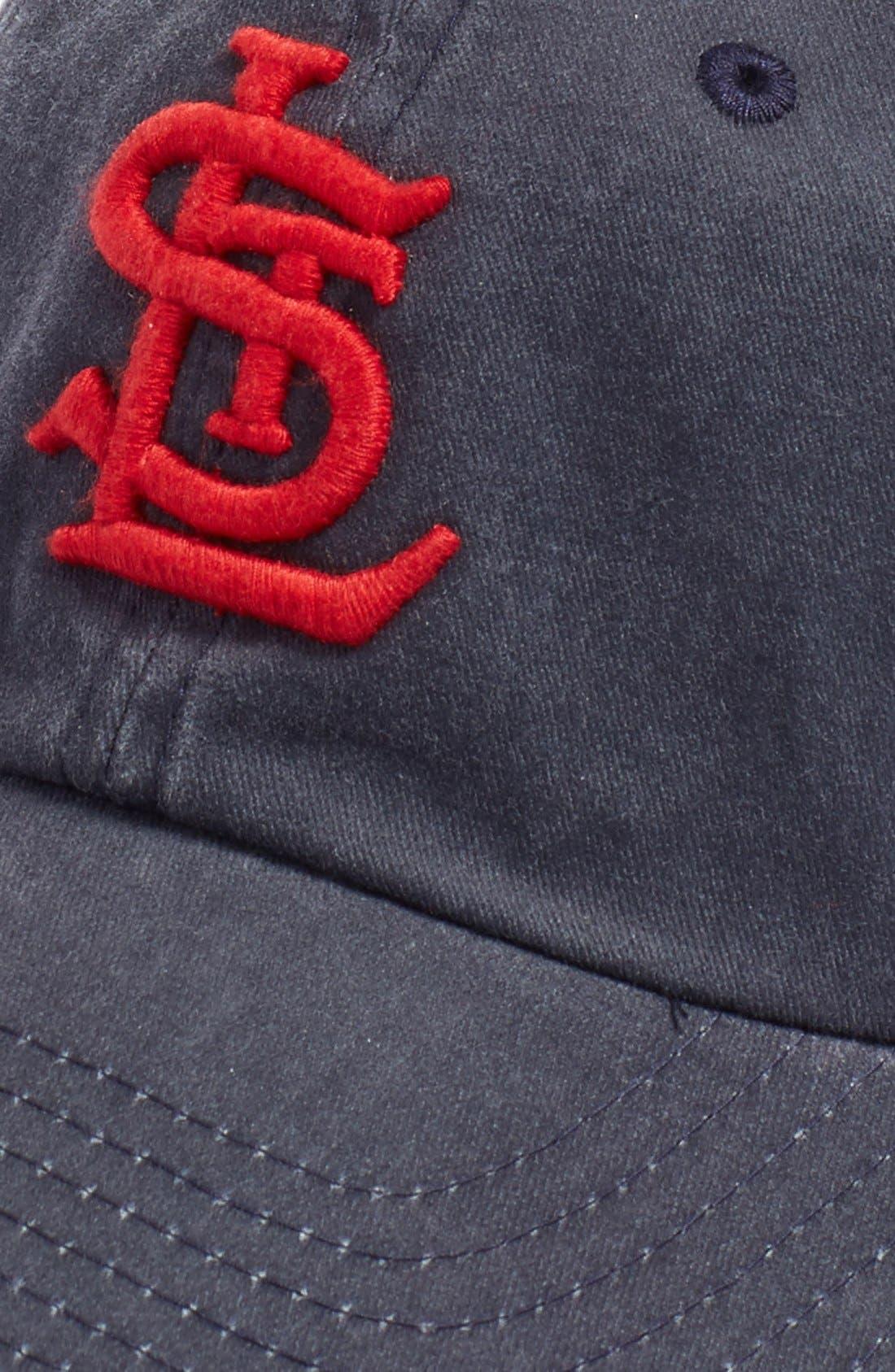 New Raglan St. Louis Cardinals Baseball Cap,                             Alternate thumbnail 2, color,                             Navy