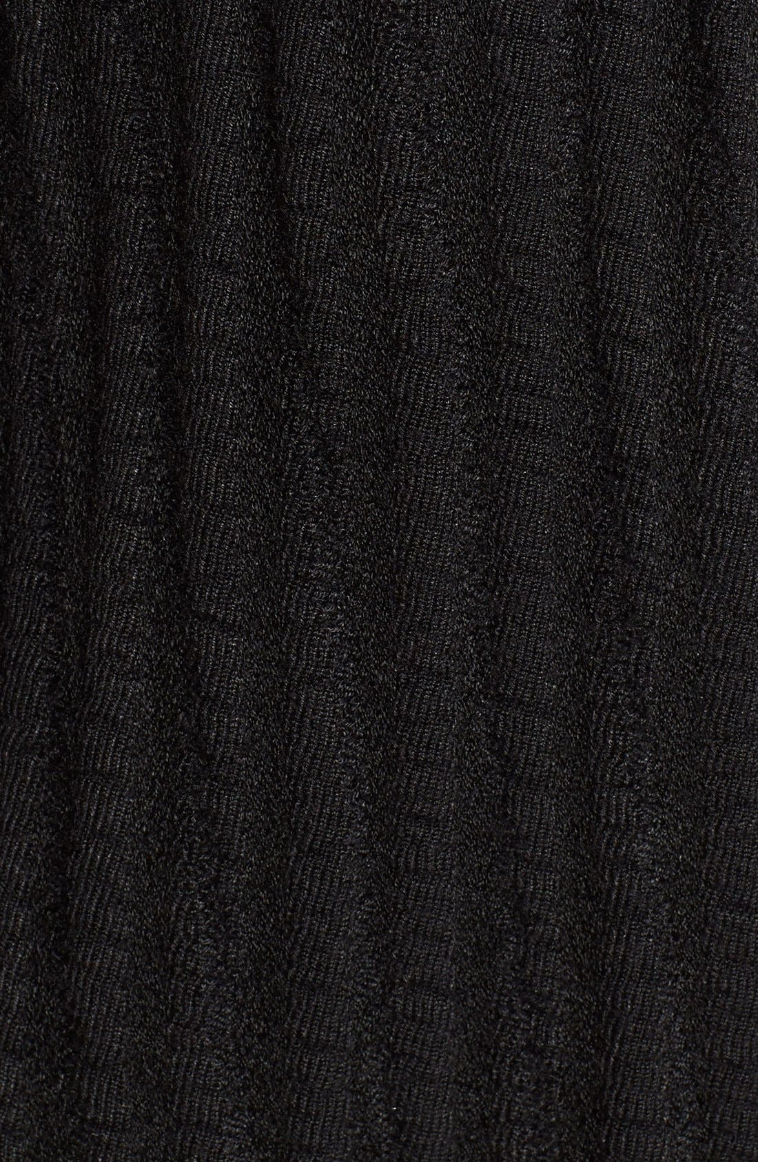 Drape Front Long Sweater Jacket,                             Alternate thumbnail 5, color,                             Black