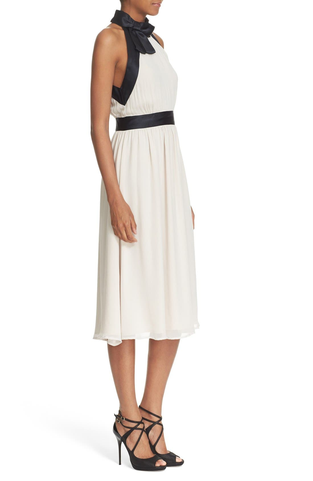 Alternate Image 3  - kate spade new york bow neck silk chiffon dress