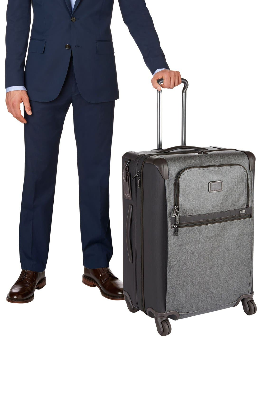 Alpha 2 Short Trip 26-Inch Rolling Four Wheel Packing Case,                             Alternate thumbnail 2, color,                             Earl Grey