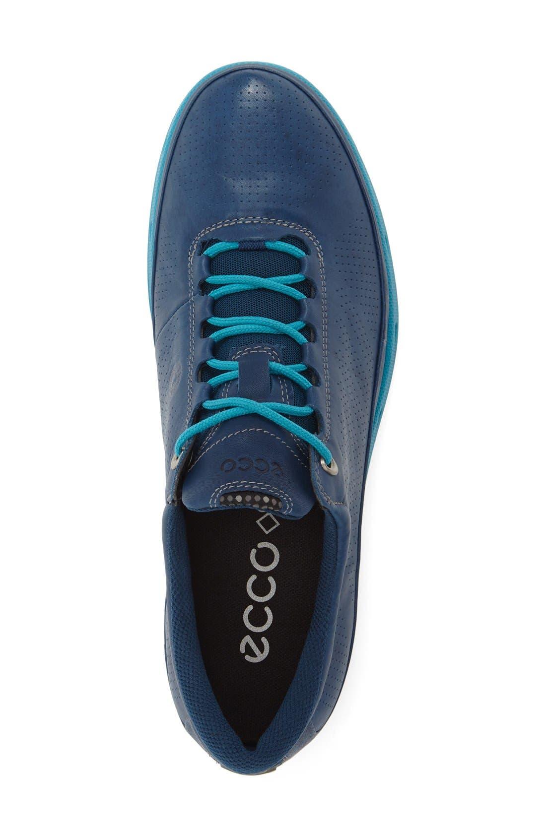 'Cool Gore-Tex<sup>®</sup>' Sneaker,                             Alternate thumbnail 3, color,                             Poseidon Blue Leather