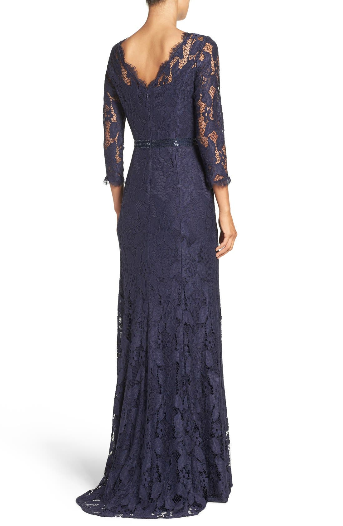 Alternate Image 2  - Adrianna Papell Illusion Yoke Lace Gown