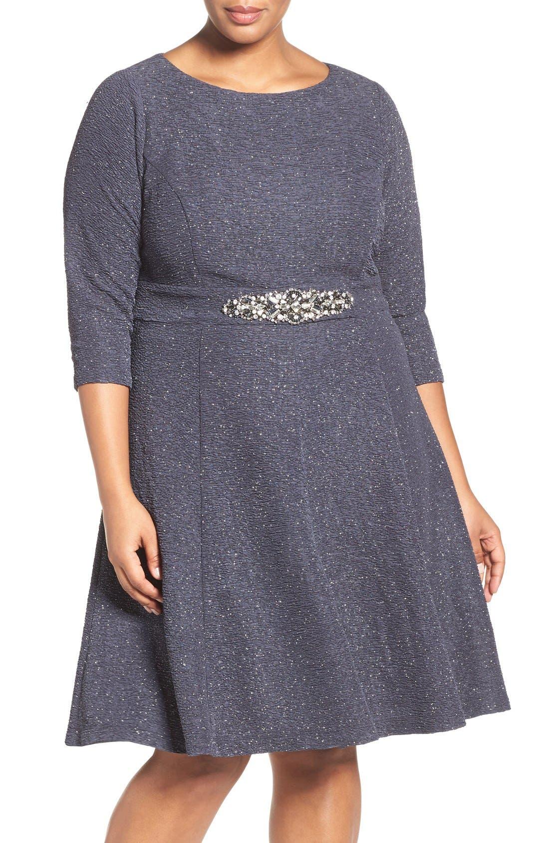 Alternate Image 1 Selected - Eliza J Embellished Fit & Flare Dress