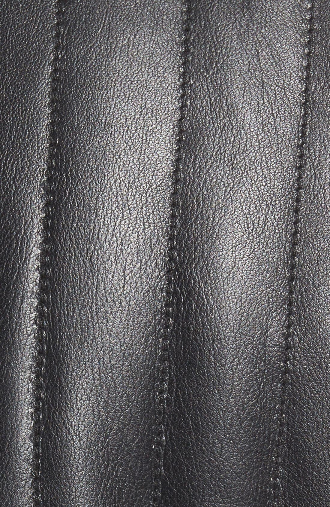 Alternate Image 5  - Missani Le Collezioni Puffy Leather & Wool Blend Reversible Vest