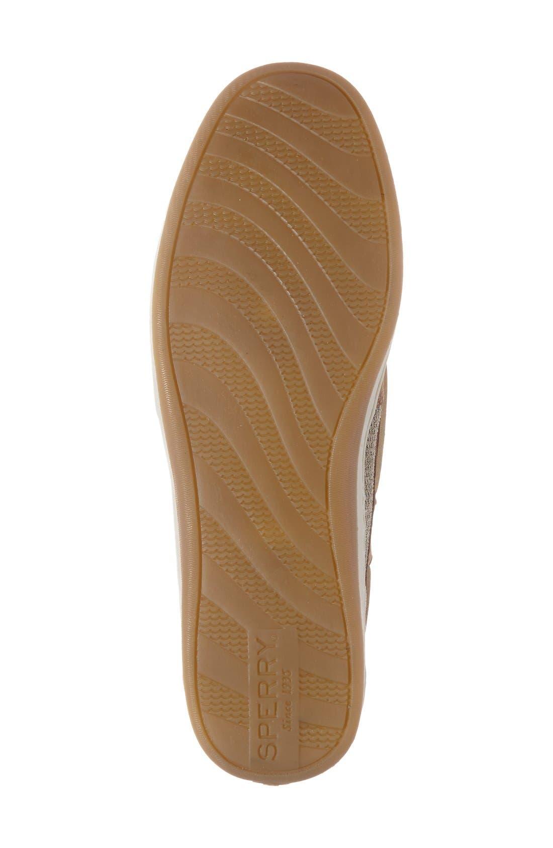 'Firefish' Flat,                             Alternate thumbnail 4, color,                             Linen/ Oat Leather