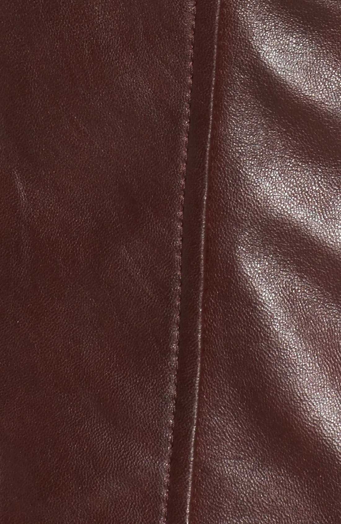 Alternate Image 6  - Bernardo Quilted Leather Moto Jacket (Regular & Petite)