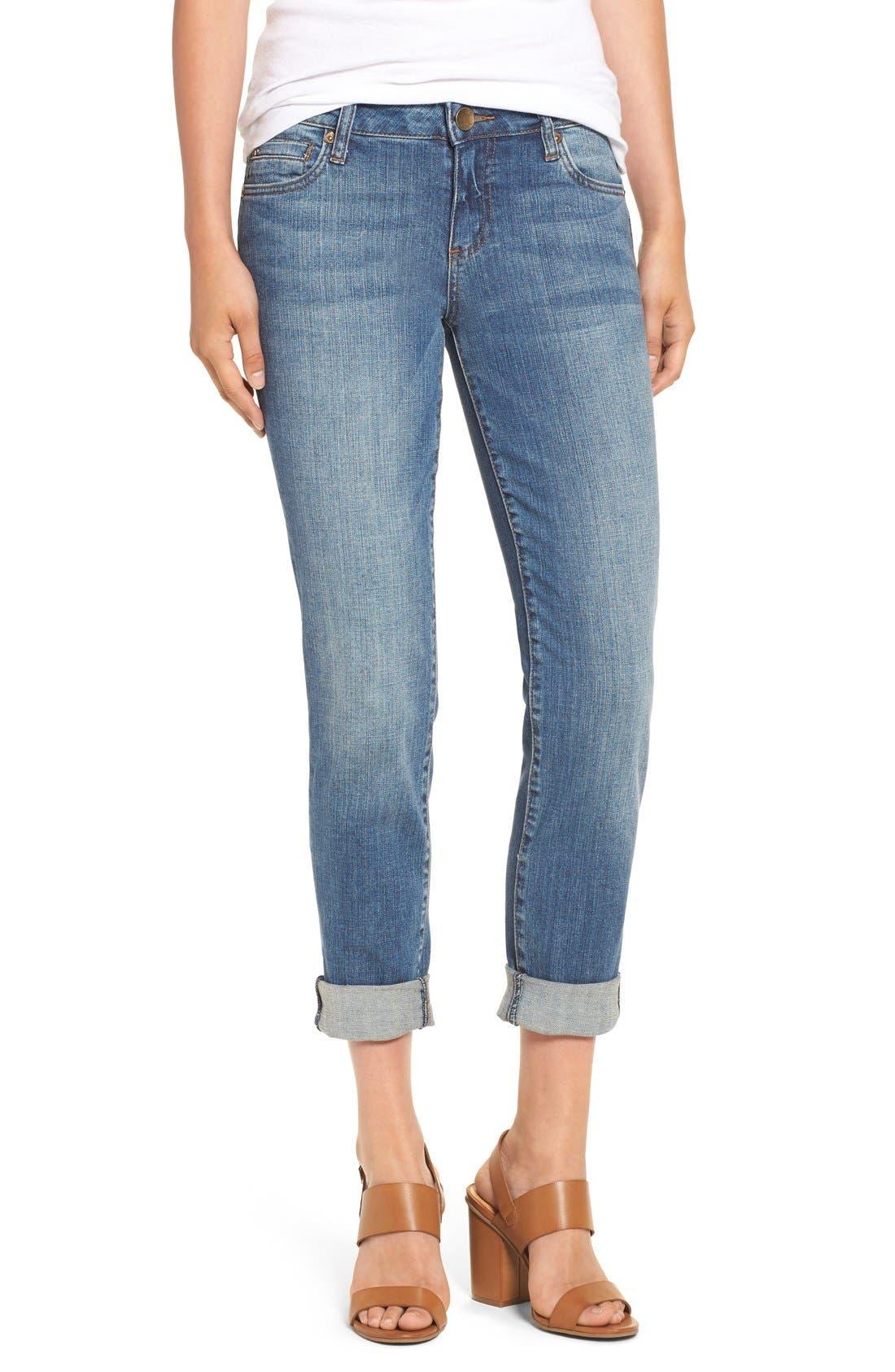 Main Image - KUT from the Kloth 'Catherine' Slim Boyfriend Jeans (Fervent) (Regular & Petite)