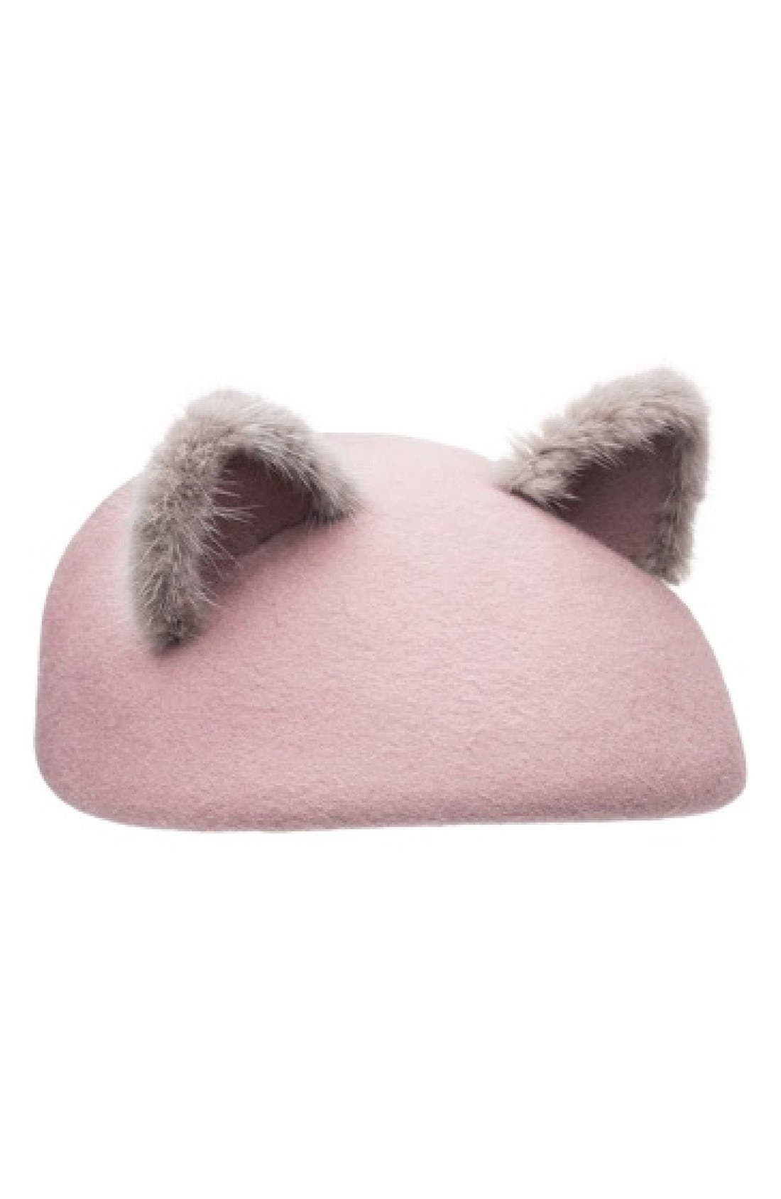 Main Image - Eugenia Kim 'Caterina' Genuine Mink Trim Beret