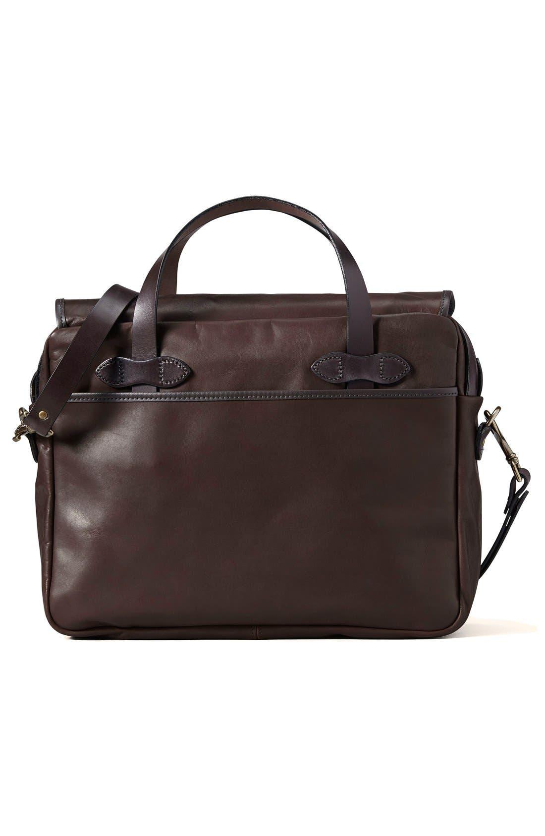 Weatherproof Leather Briefcase,                             Alternate thumbnail 2, color,                             Sierra Brown